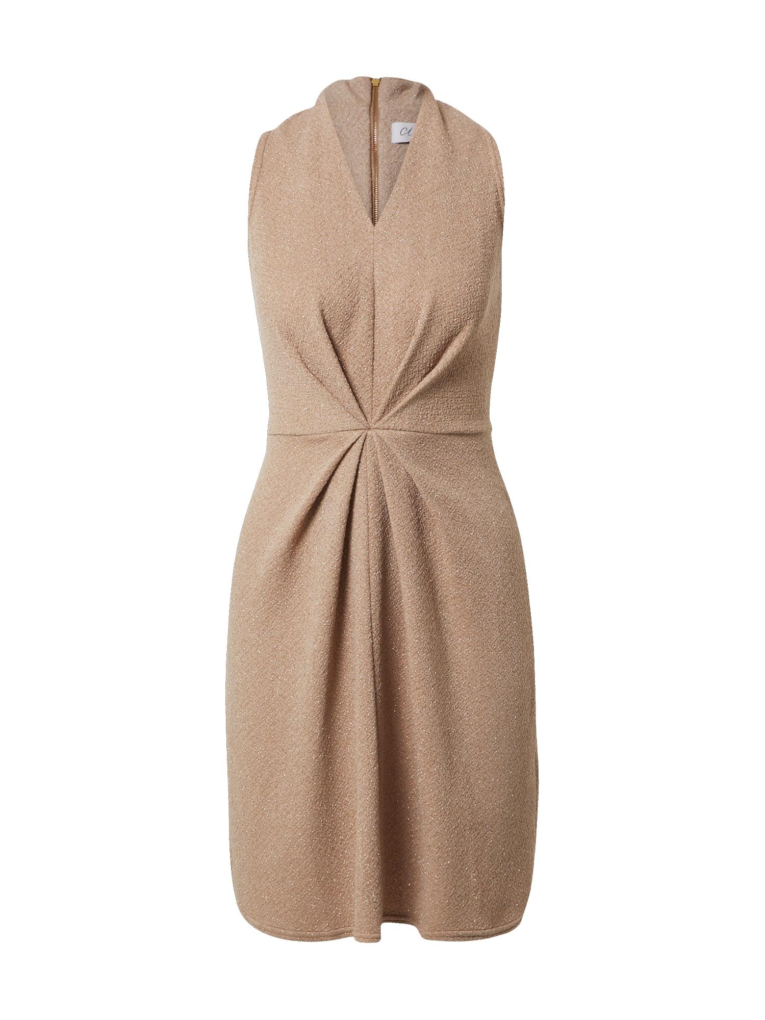 Closet London Kokteilinė suknelė smėlio