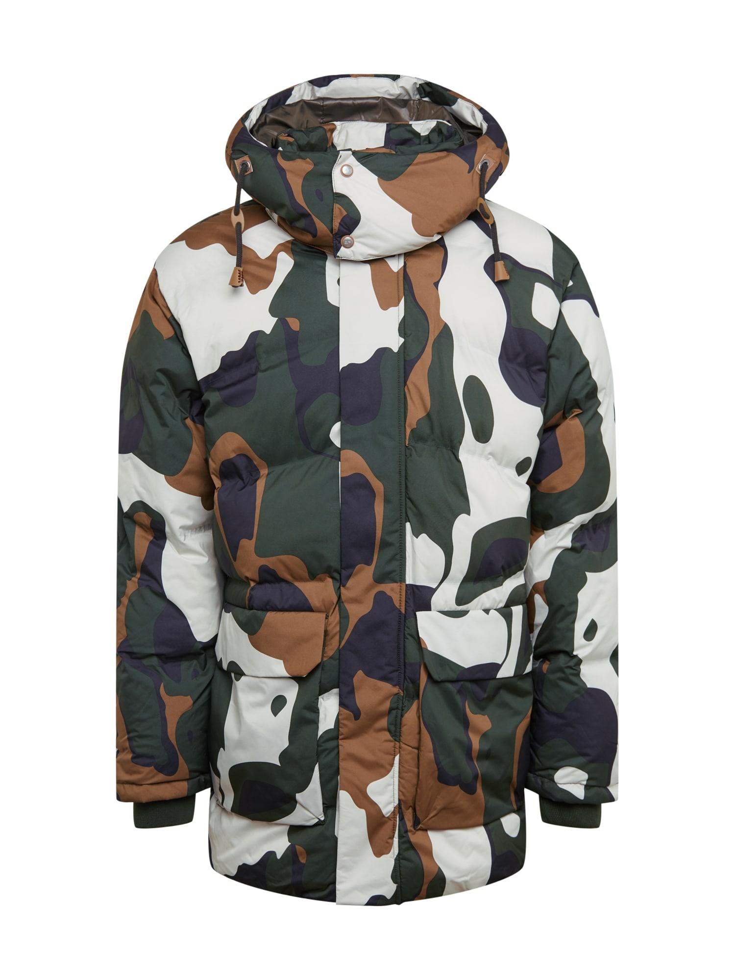 ICEPEAK Outdoorová bunda  khaki / bílá / olivová
