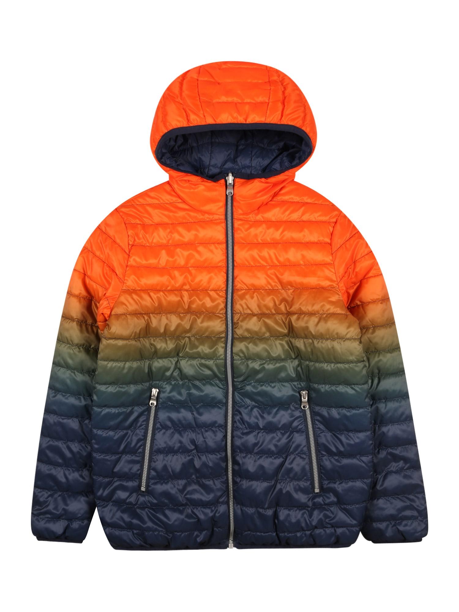 OVS Demisezoninė striukė oranžinė / tamsiai mėlyna jūros spalva