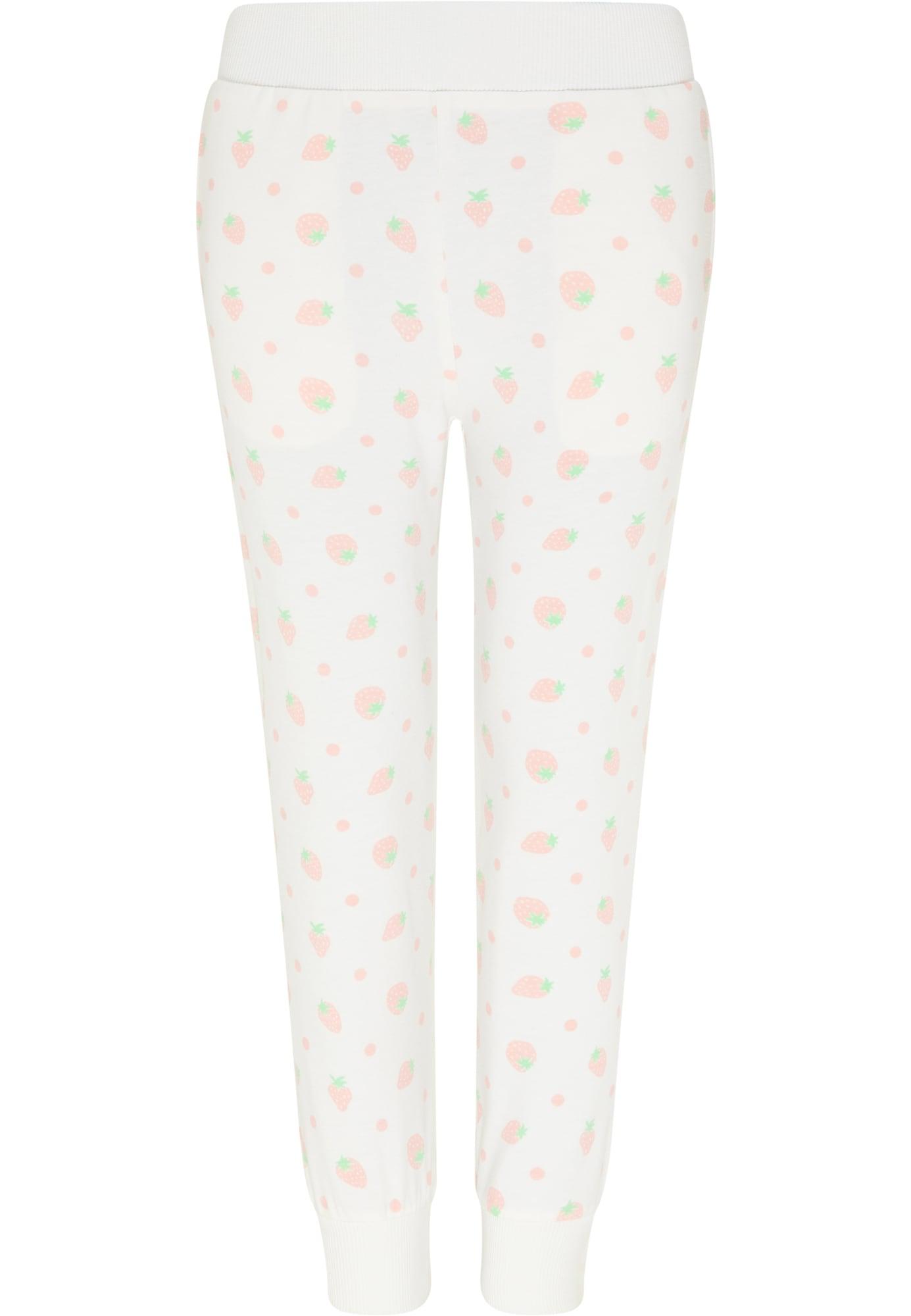 myMo KIDS Kelnės vilnos balta / pastelinė rožinė / šviesiai žalia