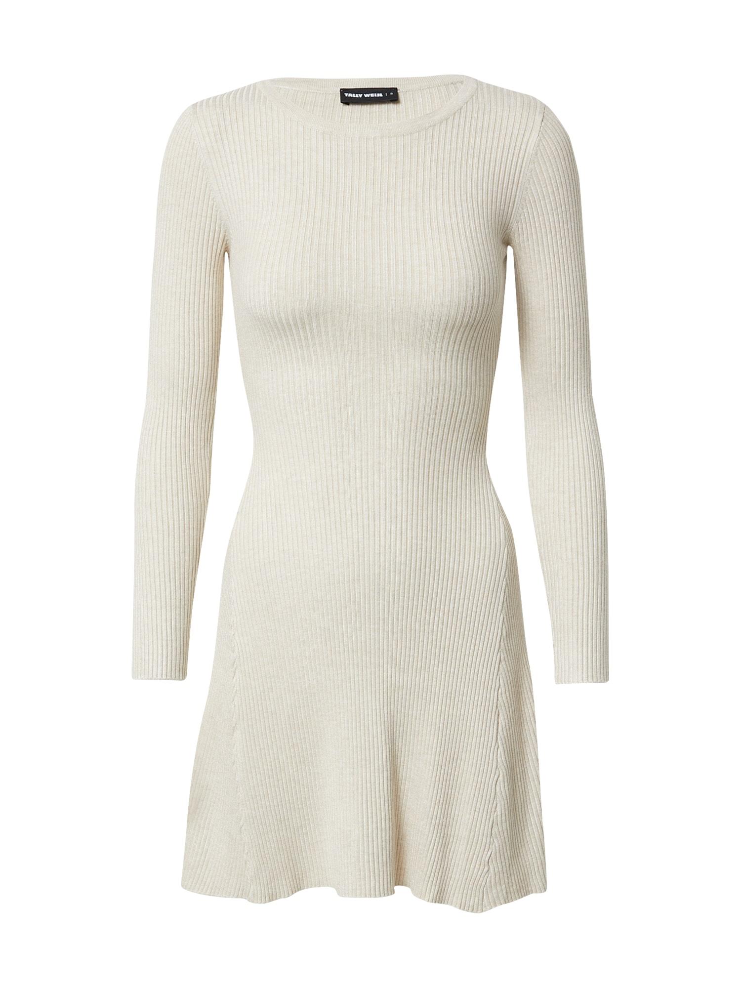 Tally Weijl Úpletové šaty  béžová