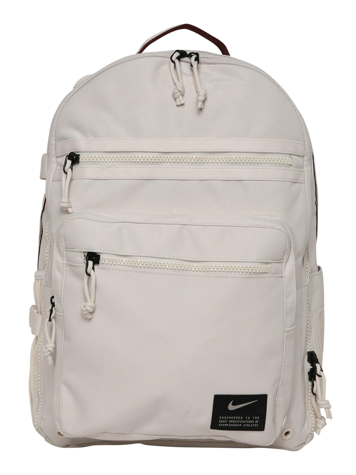 NIKE Sportovní batoh 'Utility Power'  bílý melír / karmínově červené / černá