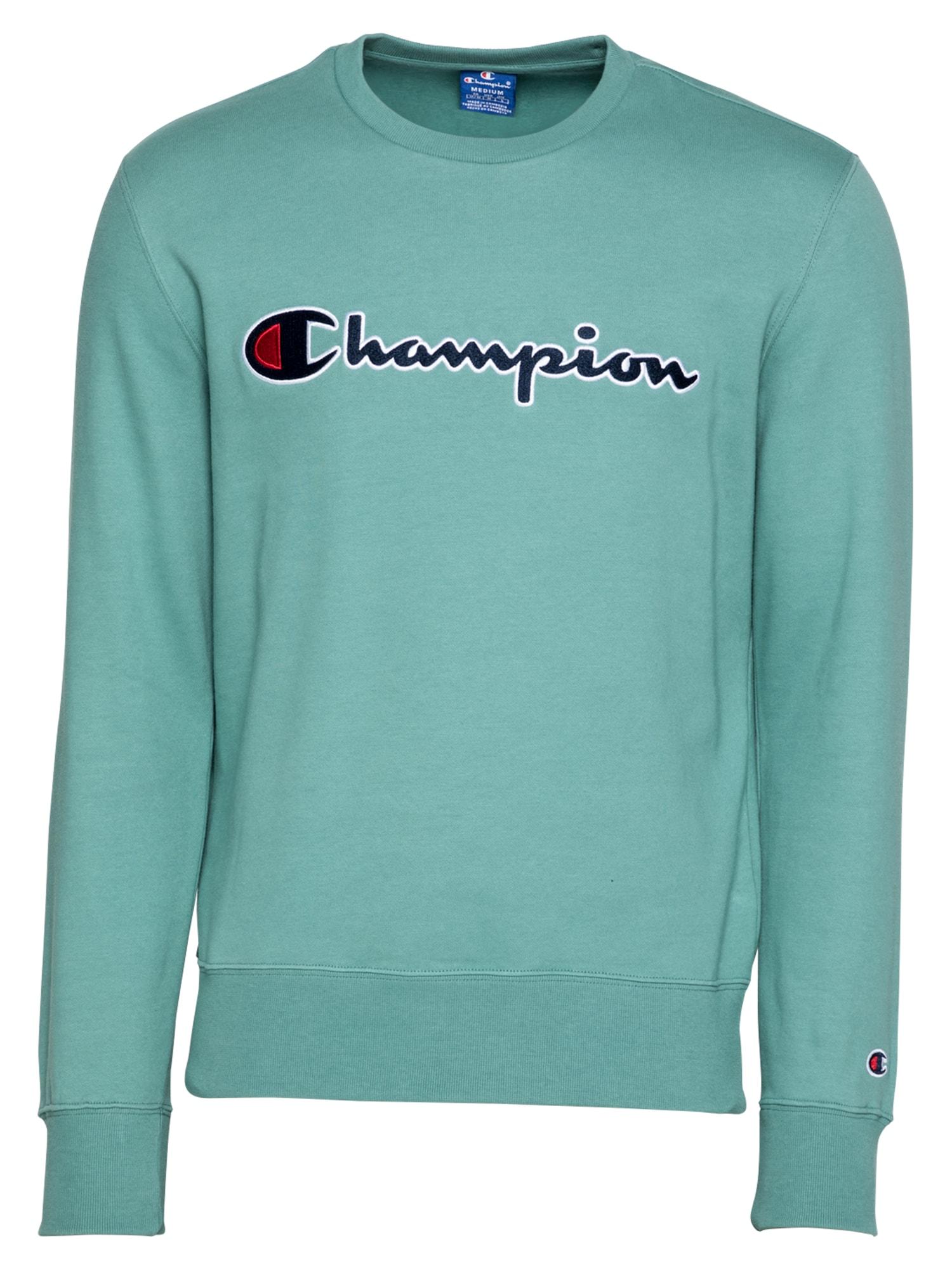 Champion Authentic Athletic Apparel Megztinis be užsegimo nefrito spalva / tamsiai mėlyna jūros spalva / balta / raudona