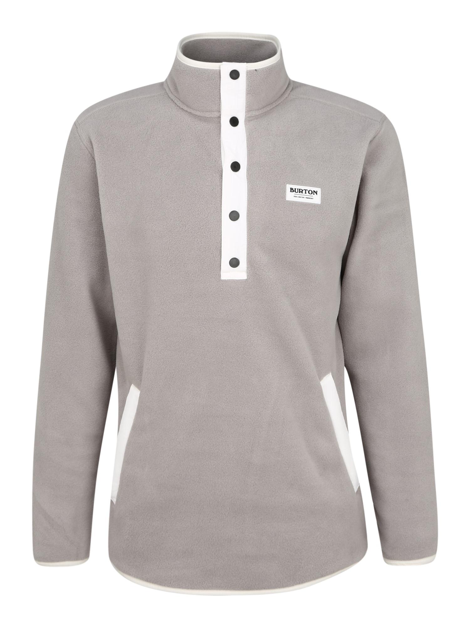 BURTON Sportinis megztinis pilka / balta