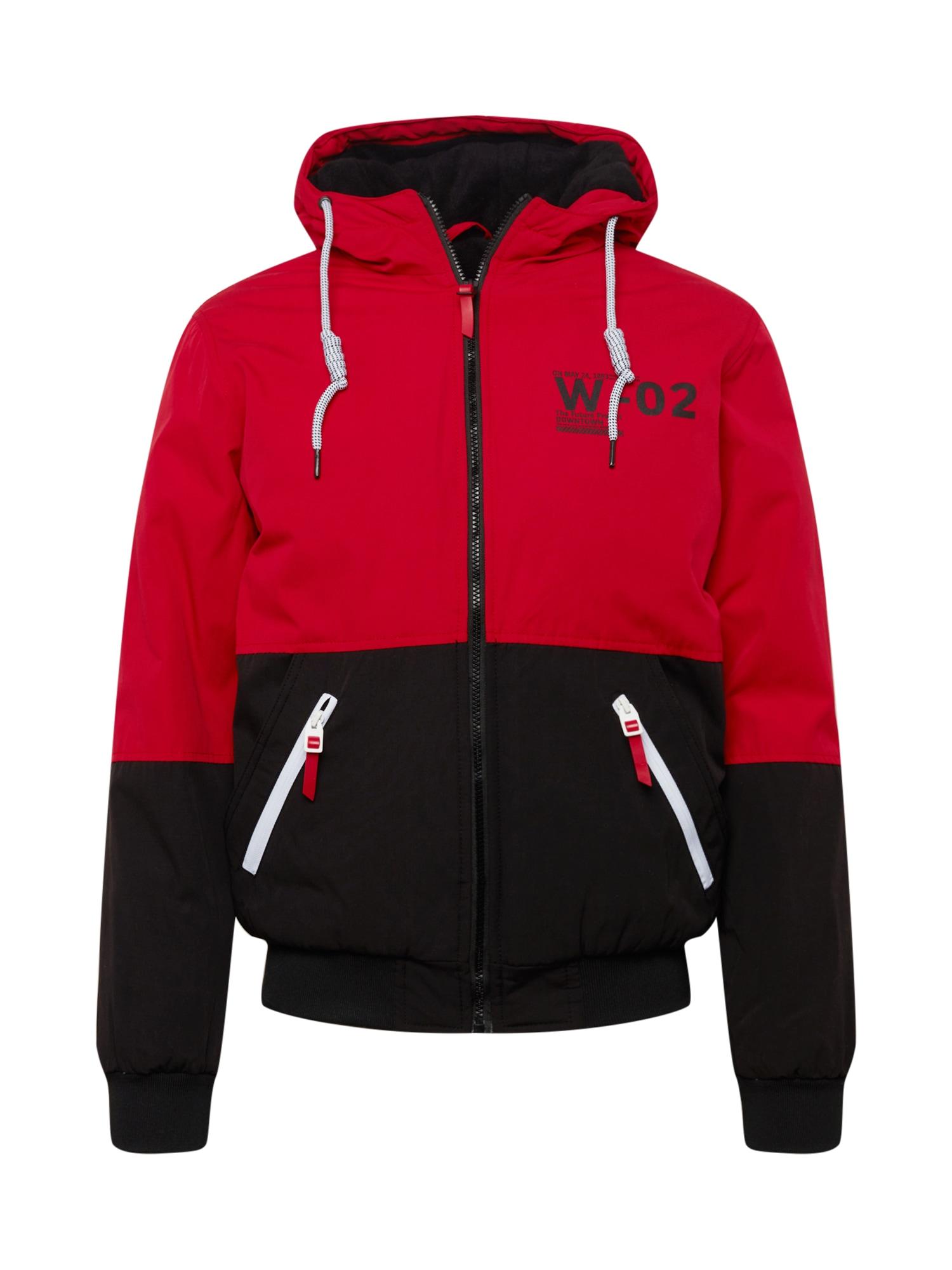DeFacto Přechodná bunda  ohnivá červená / černá / bílá