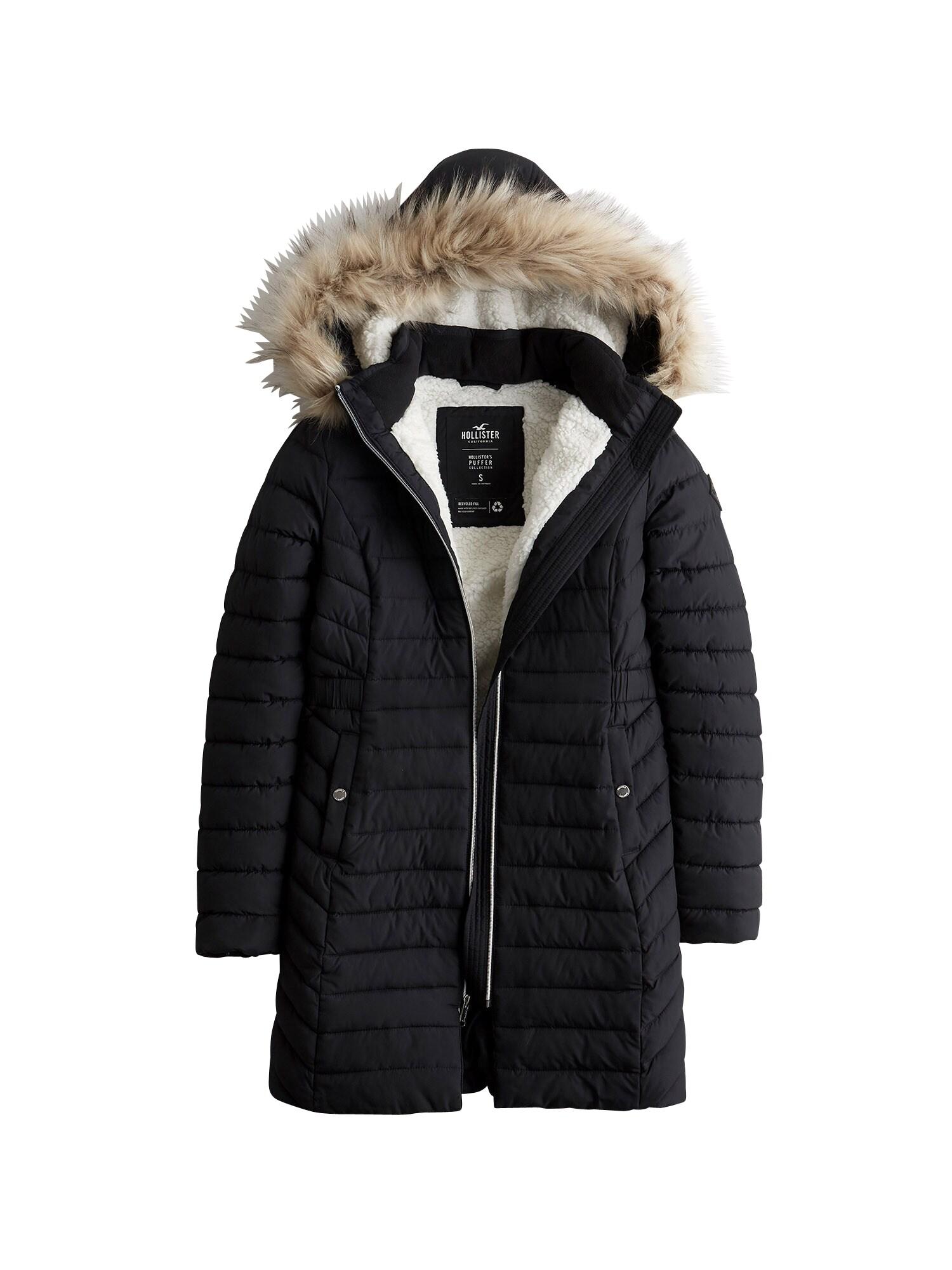 HOLLISTER Žieminis paltas juoda