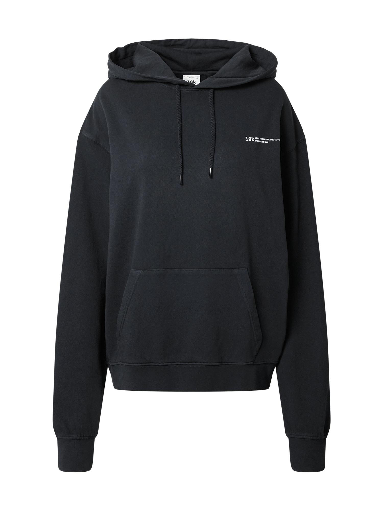 10k Megztinis be užsegimo juoda / balta