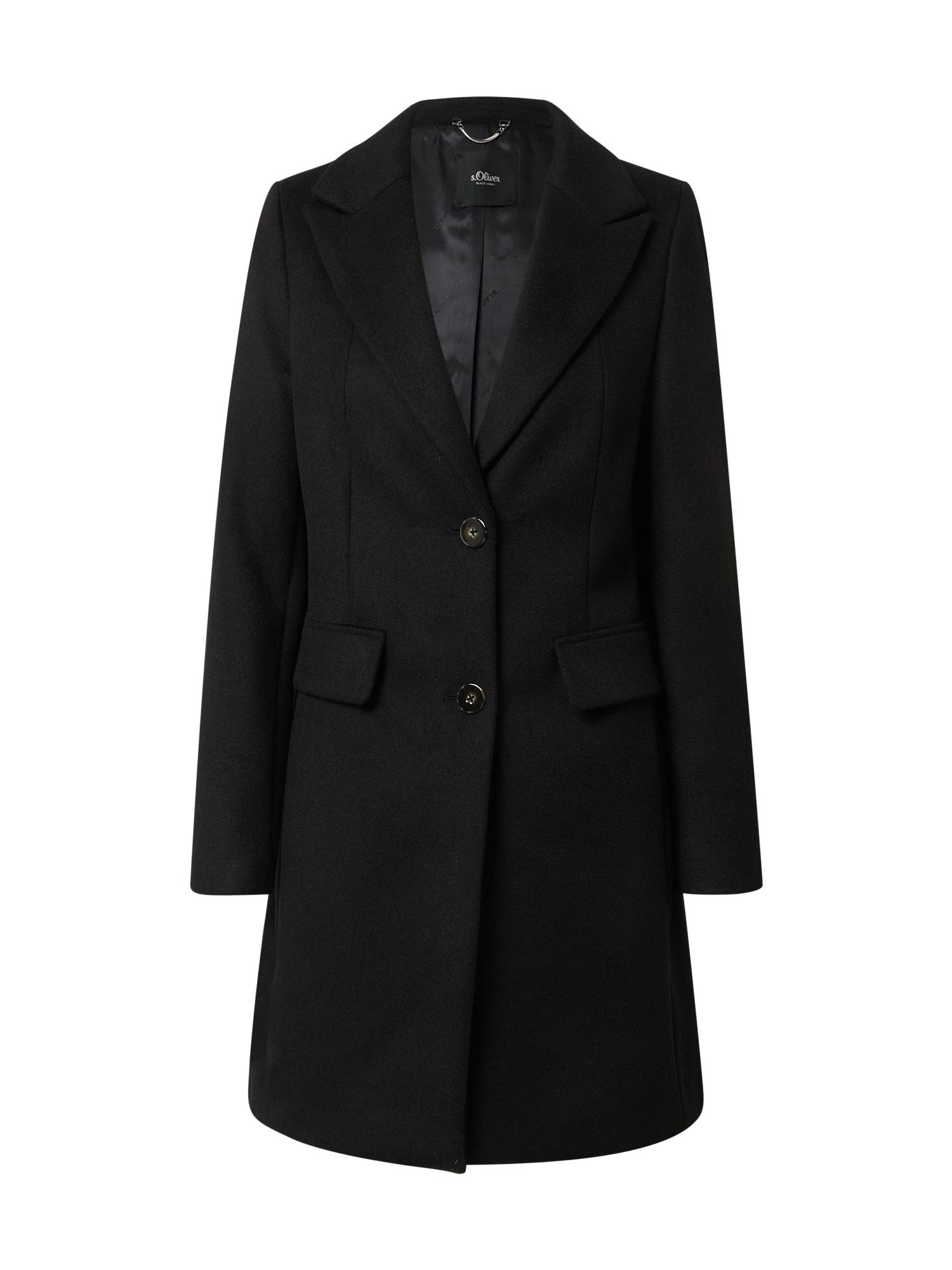 s.Oliver BLACK LABEL Demisezoninis paltas juoda
