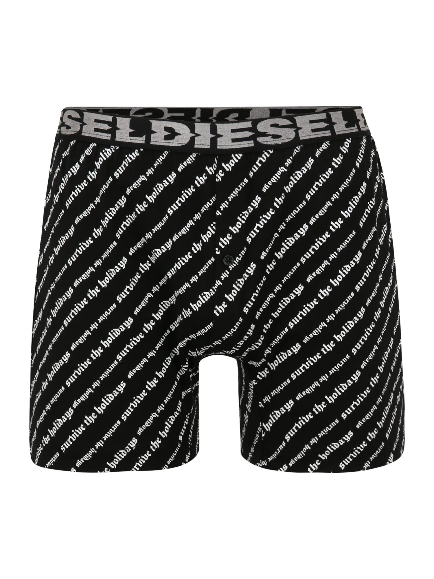 DIESEL Boxer trumpikės juoda / balta
