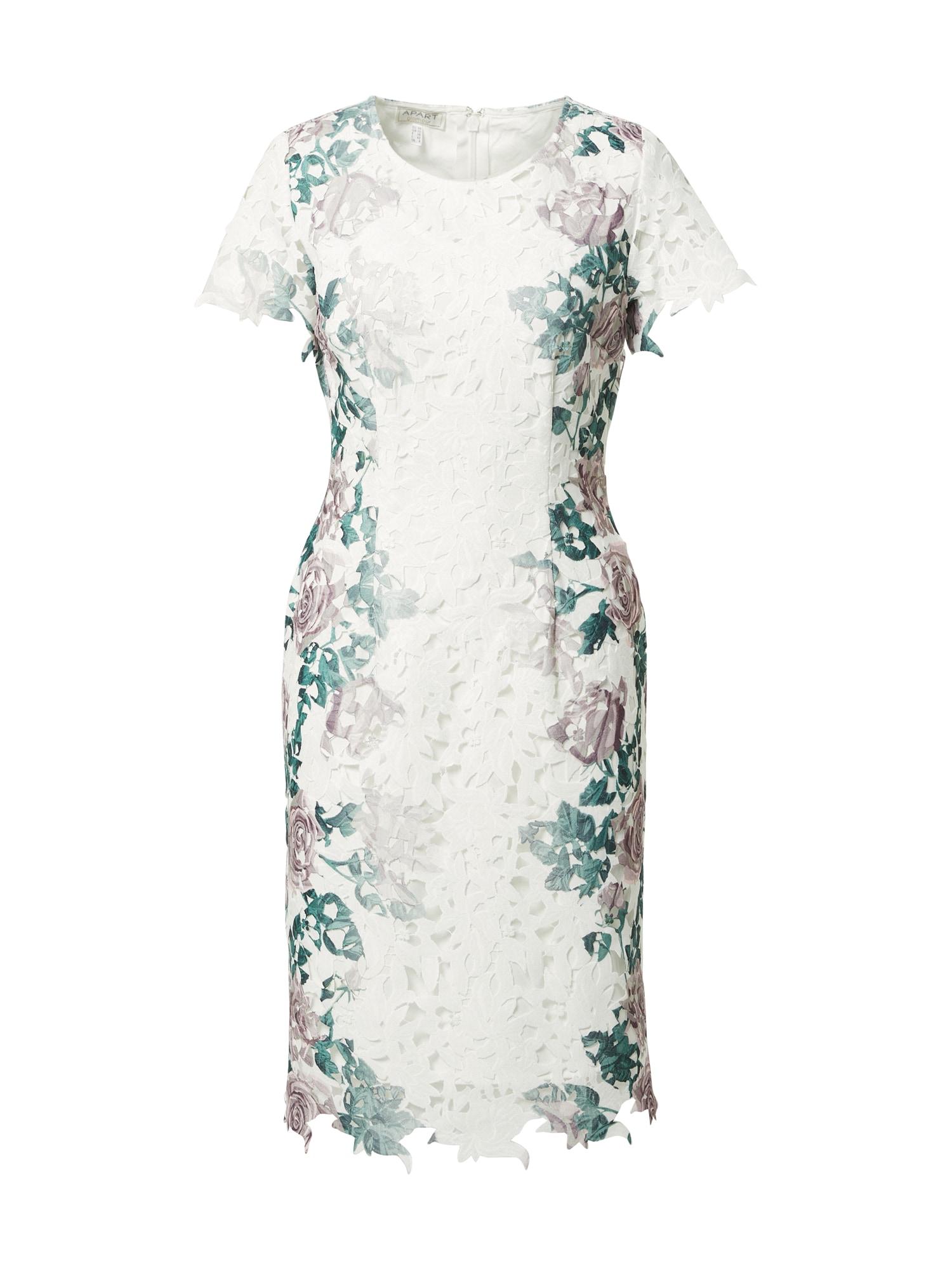 APART Kokteilinė suknelė kremo / mišrios spalvos