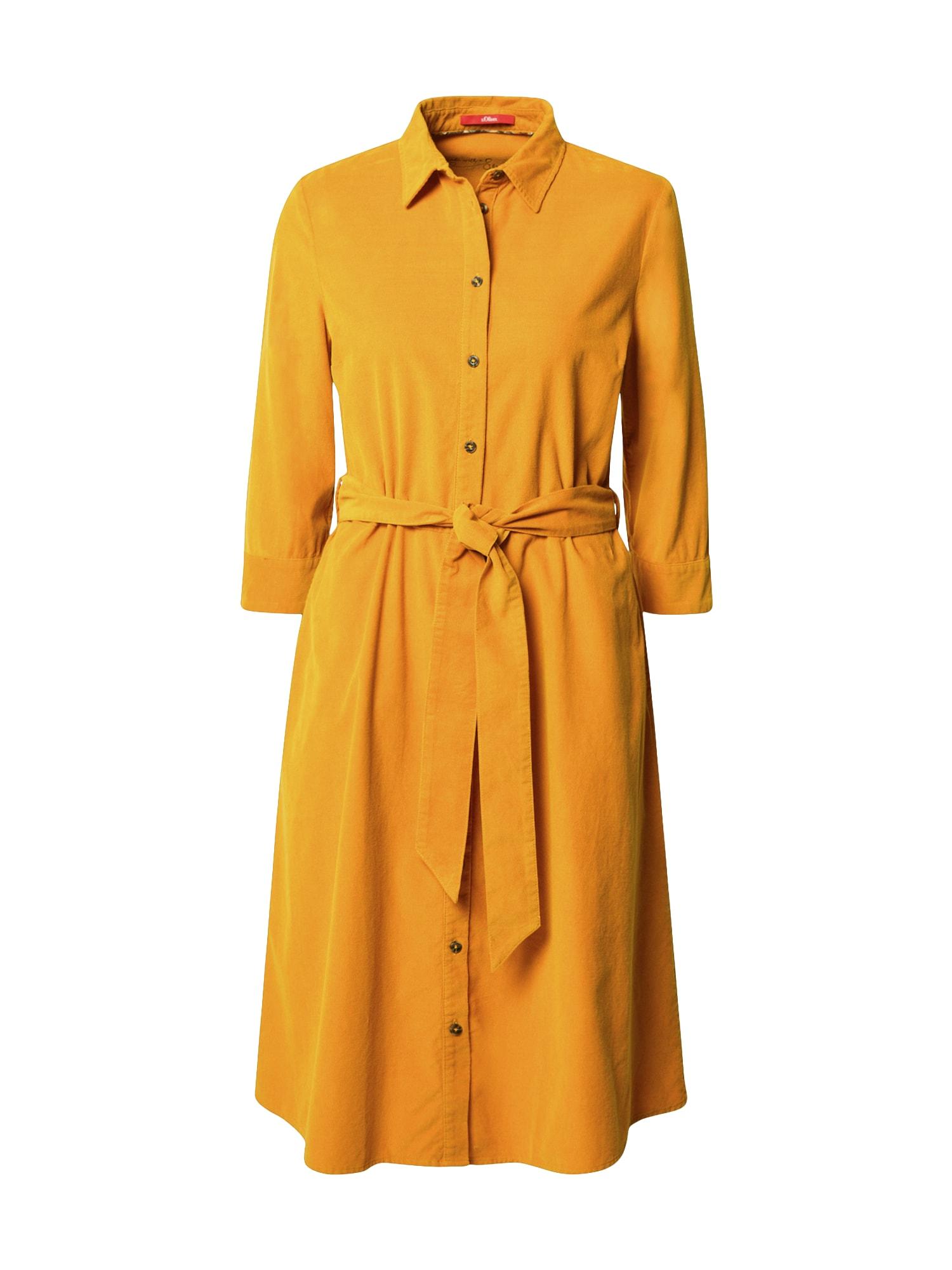 s.Oliver Košilové šaty  žlutá