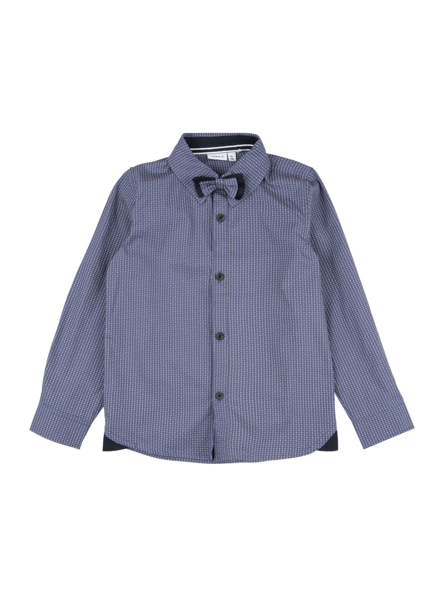 NAME IT Marškiniai 'ROHAN' mėlyna / balta