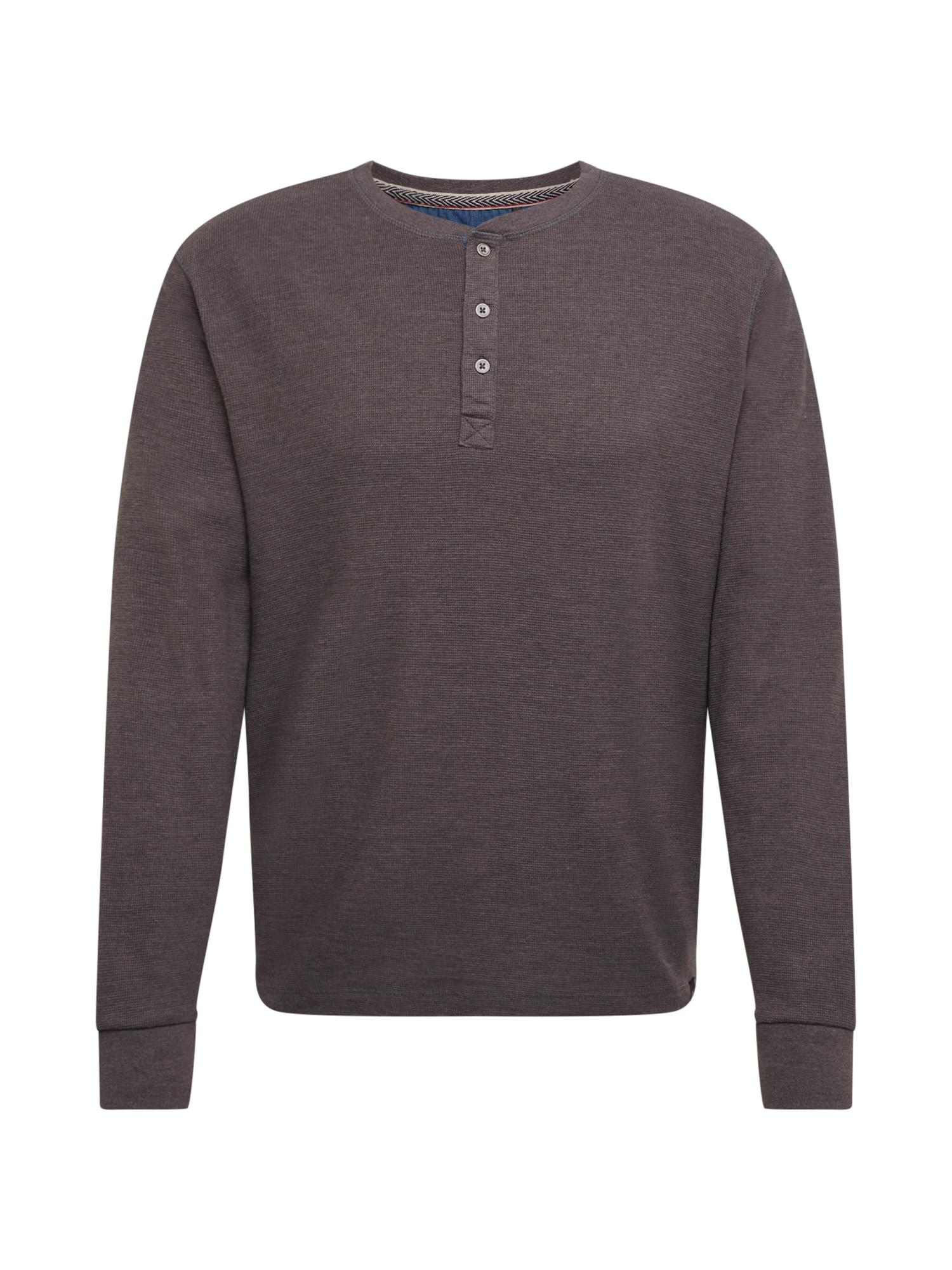 BLEND Marškinėliai rusvai pilka