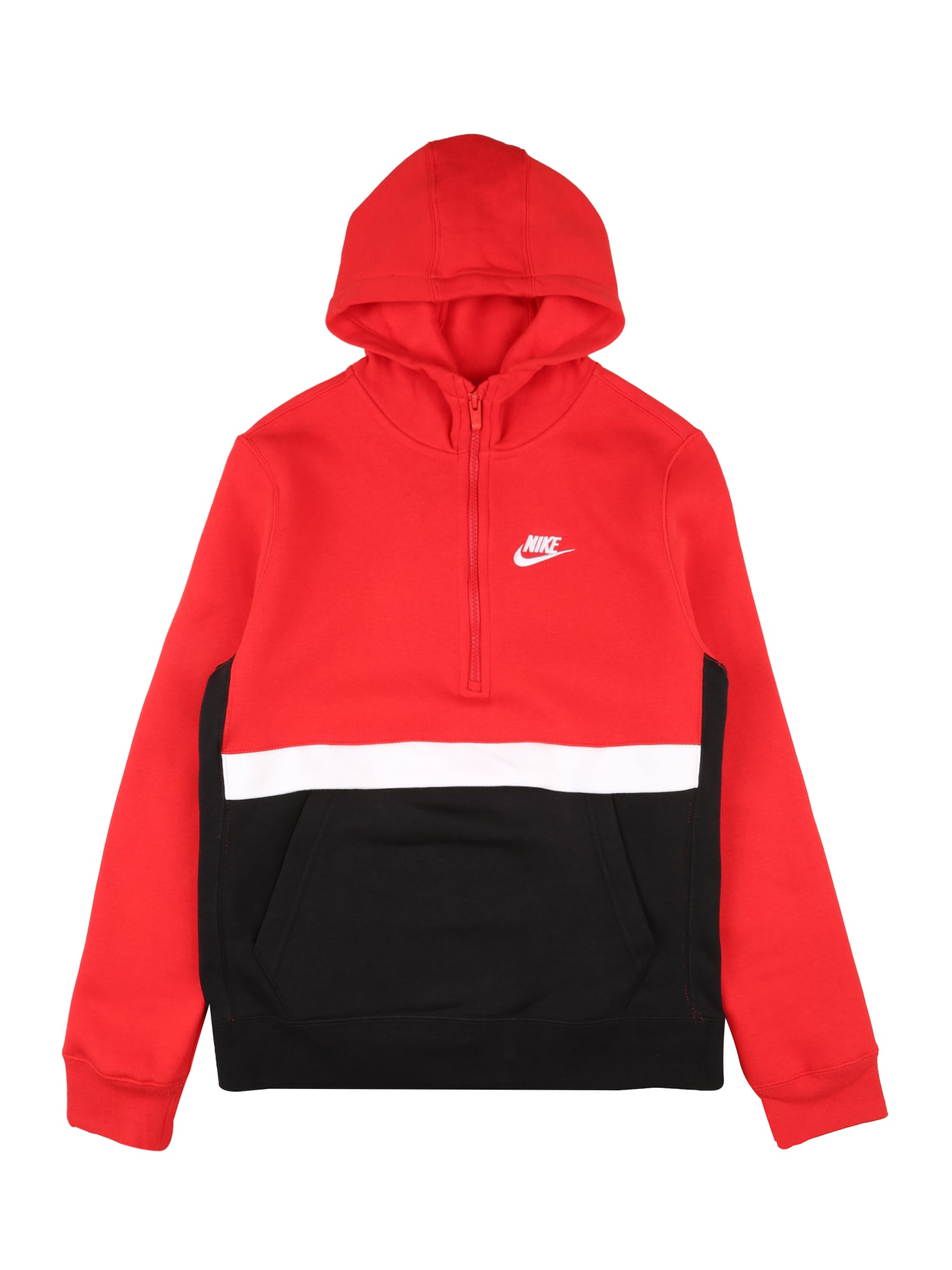 Nike Sportswear Mikina  černá / červená / bílá