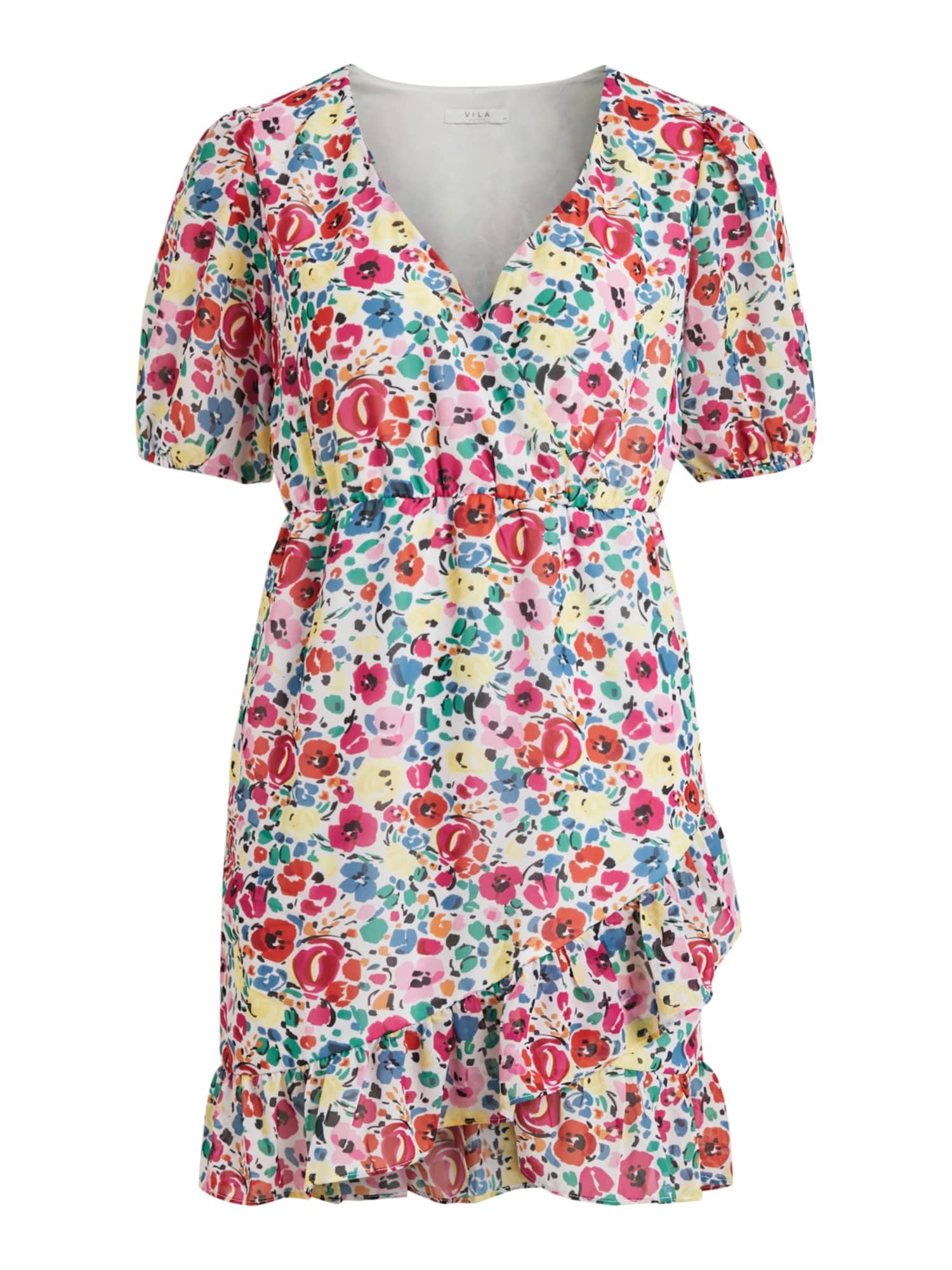 VILA Letní šaty 'Medow'  bílá / mix barev