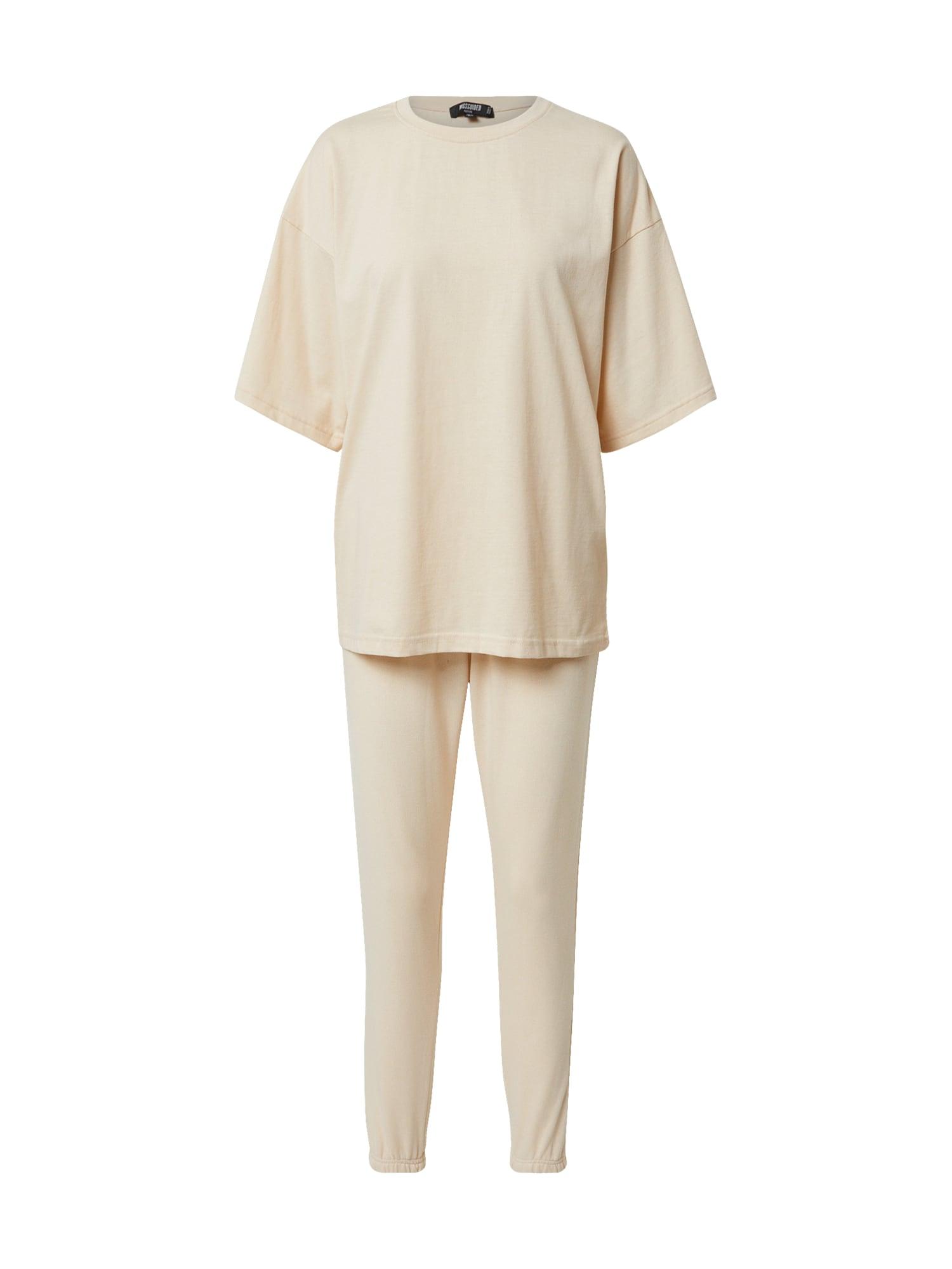 Missguided (Petite) Naminis kostiumas smėlio spalva