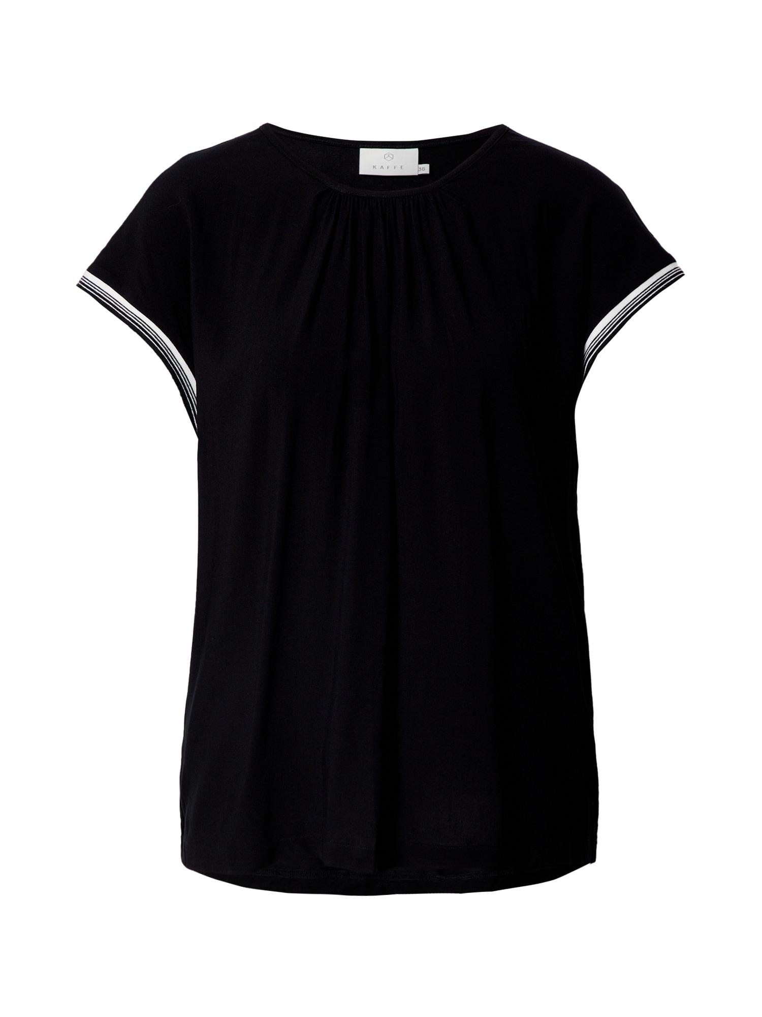 Kaffe Marškinėliai juoda / balta