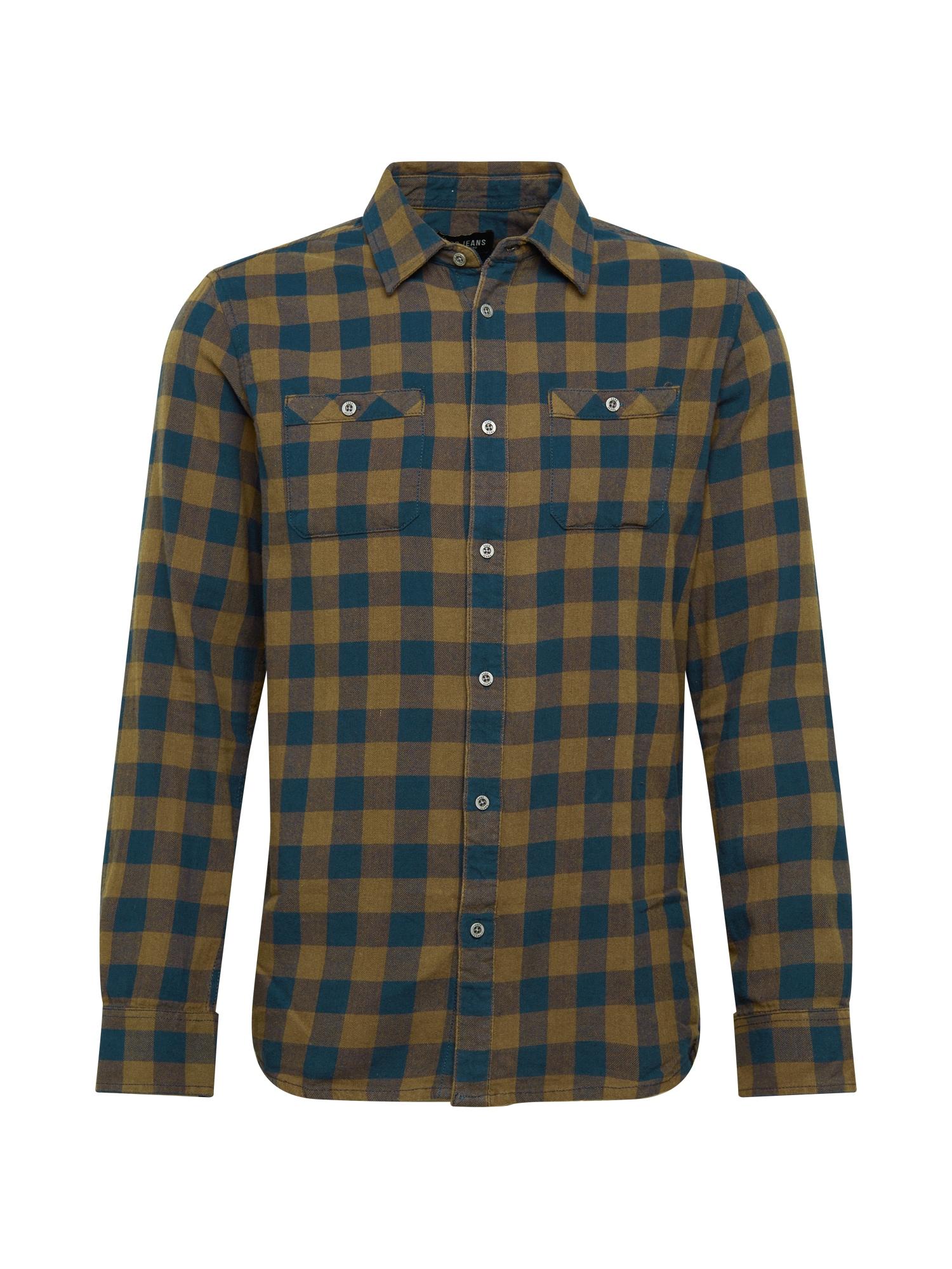 Cars Jeans Košile 'Lumber'  khaki / tmavě modrá