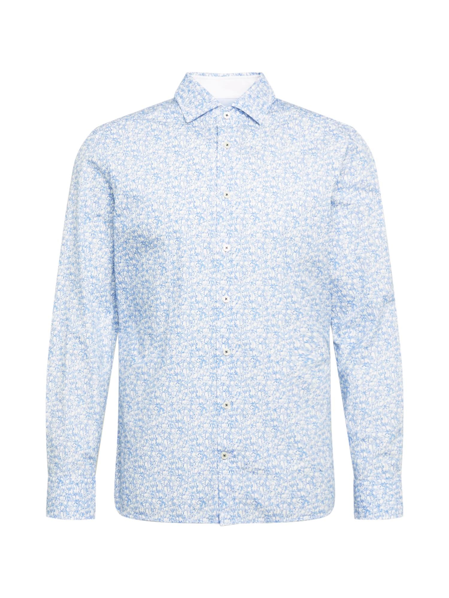Hackett London Marškiniai šviesiai mėlyna / balta