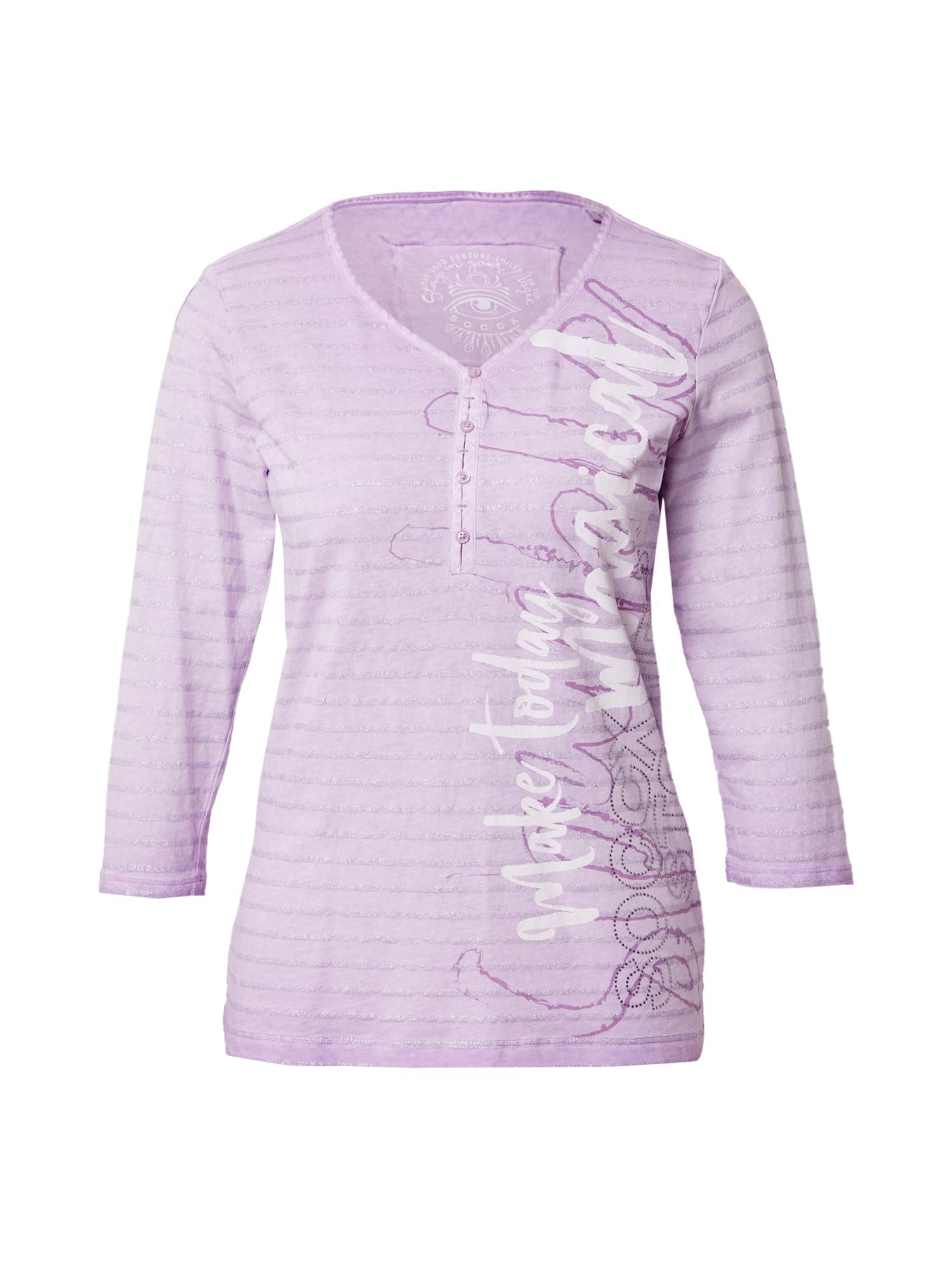 Soccx Marškinėliai purpurinė / sidabrinė / balta