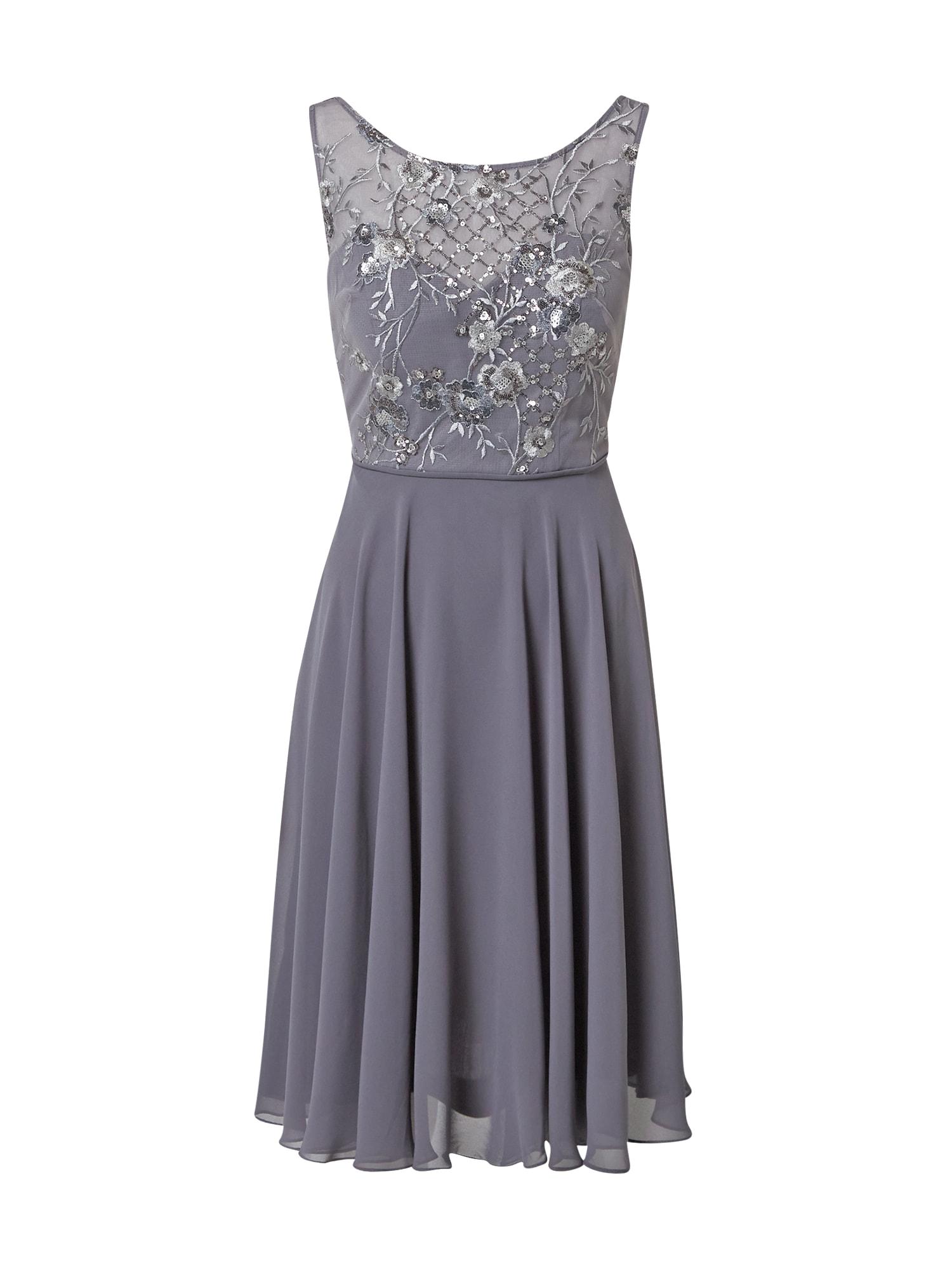 STAR NIGHT Kokteilinė suknelė tamsiai pilka / pilka
