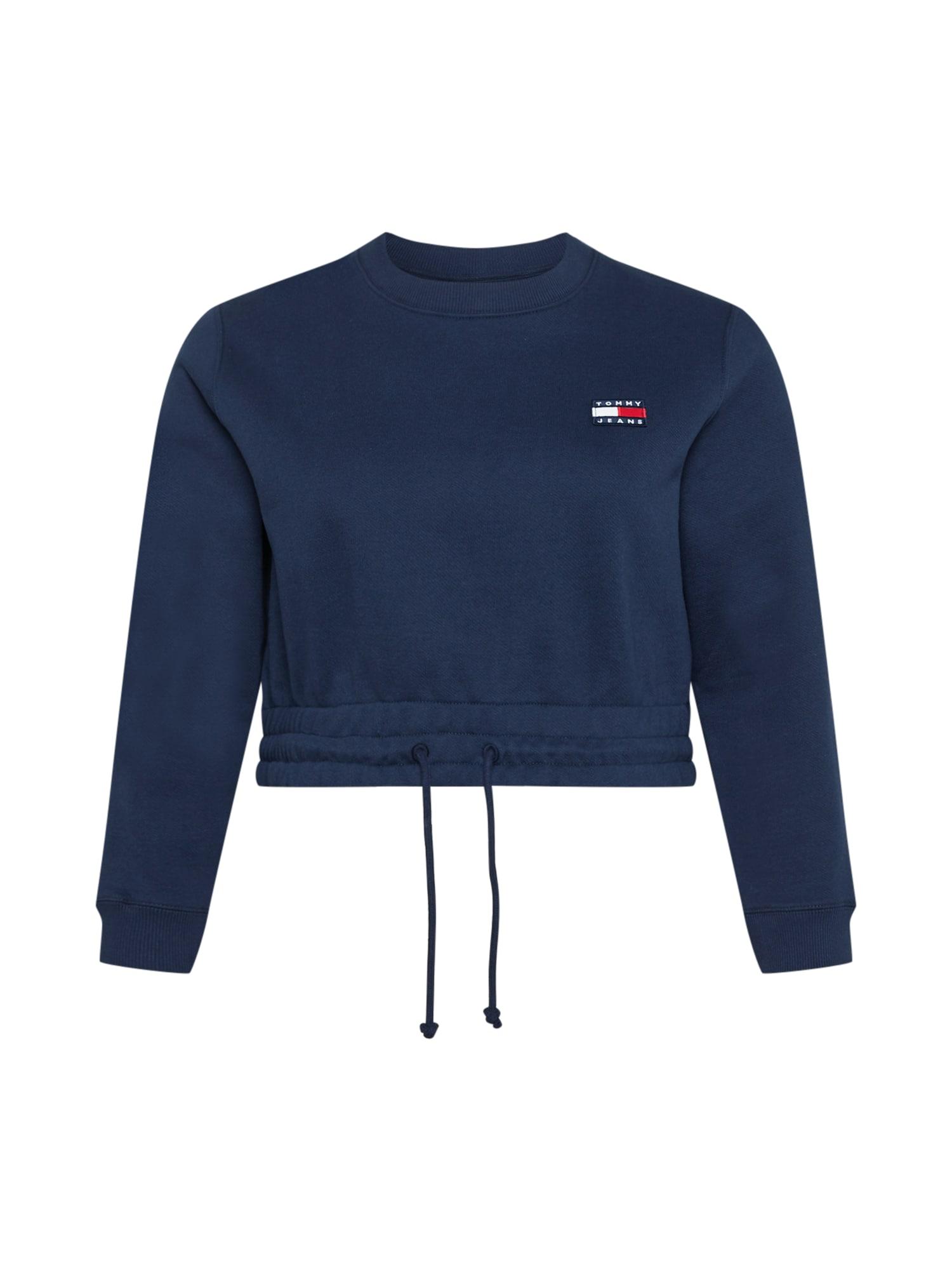 Tommy Jeans Curve Megztinis be užsegimo tamsiai mėlyna