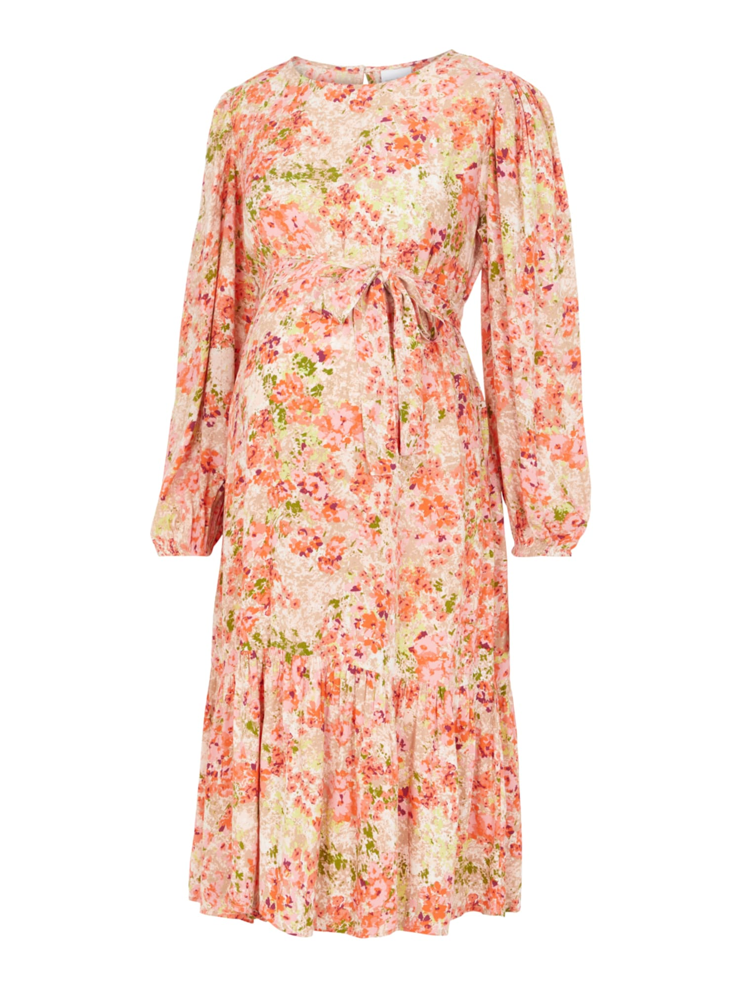MAMALICIOUS Suknelė 'Anya' kremo / abrikosų spalva / pastelinė rožinė / uogų spalva