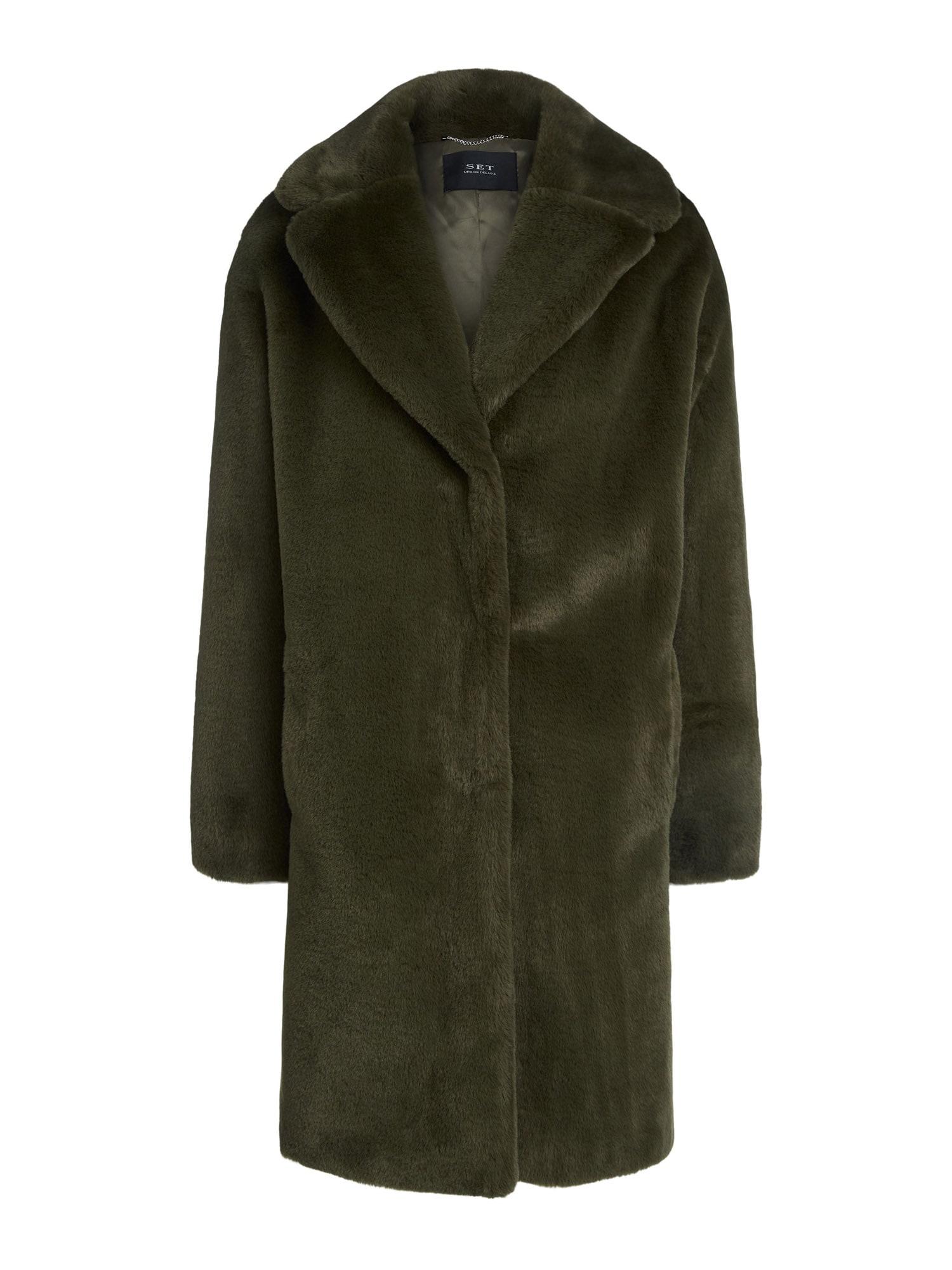 SET Zimní kabát  tmavě zelená