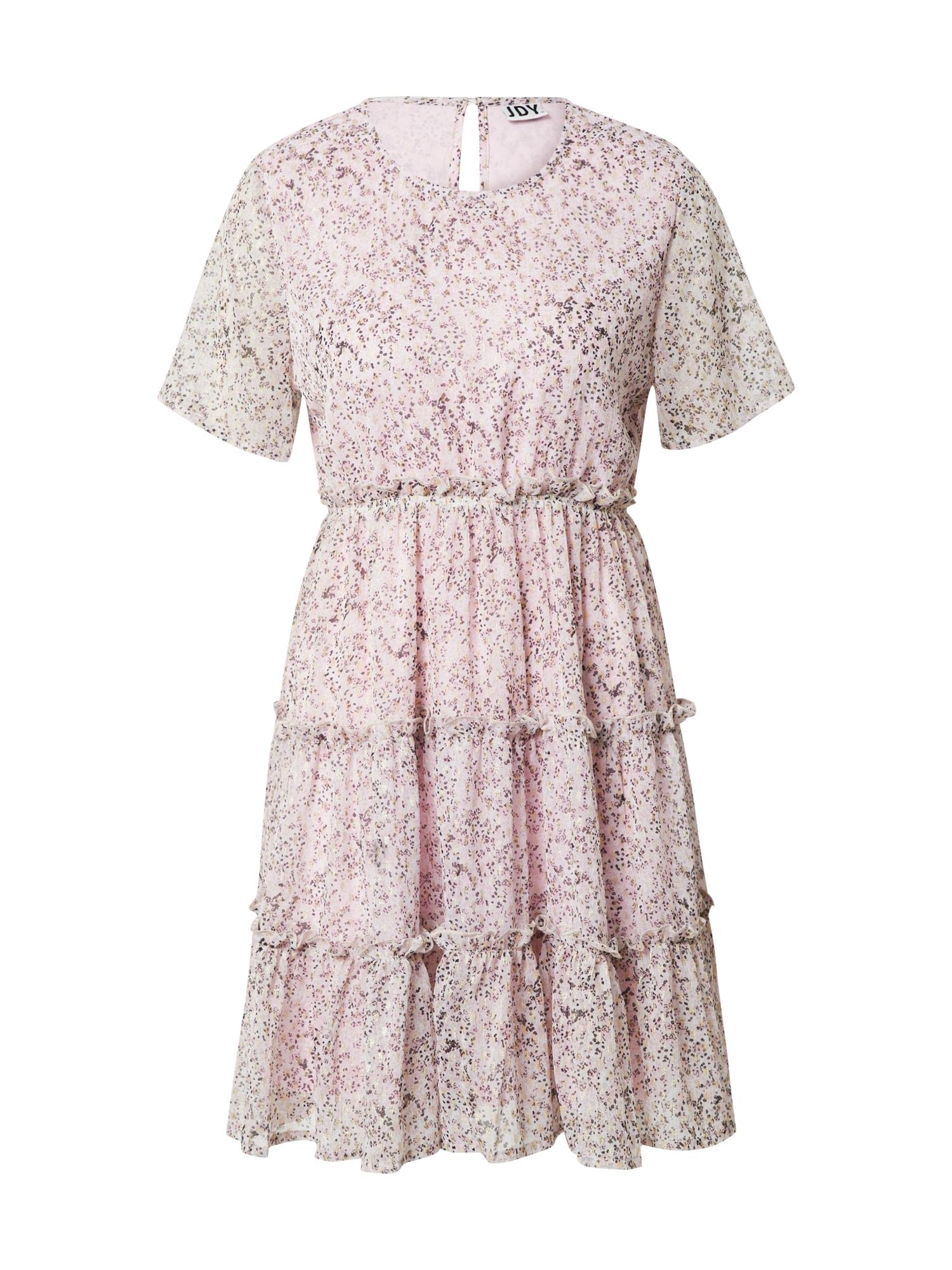 JDY Letní šaty 'TIME'  lenvandulová / zlatá / tmavě fialová