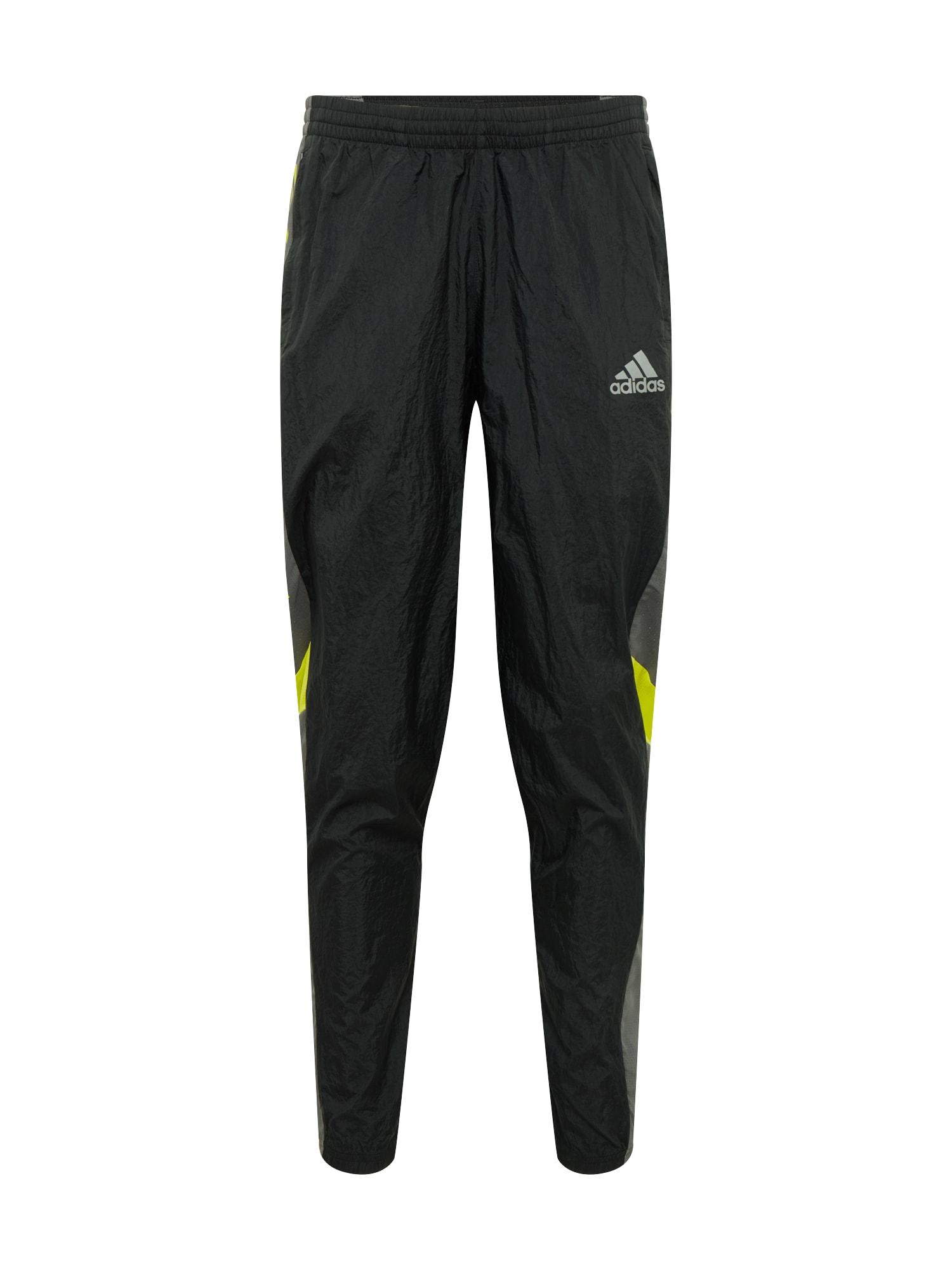 ADIDAS PERFORMANCE Sportinės kelnės geltona / juoda / pilka