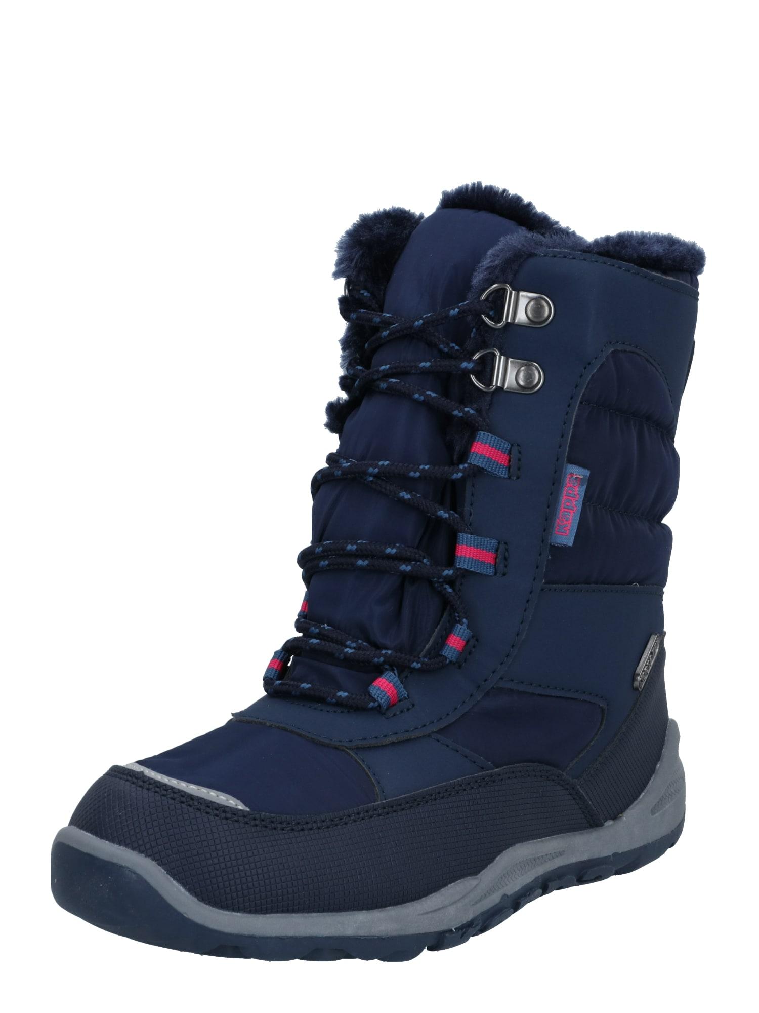 KAPPA Sniego batai 'Alido' tamsiai mėlyna / mėlyna dūmų spalva / neoninė rožinė
