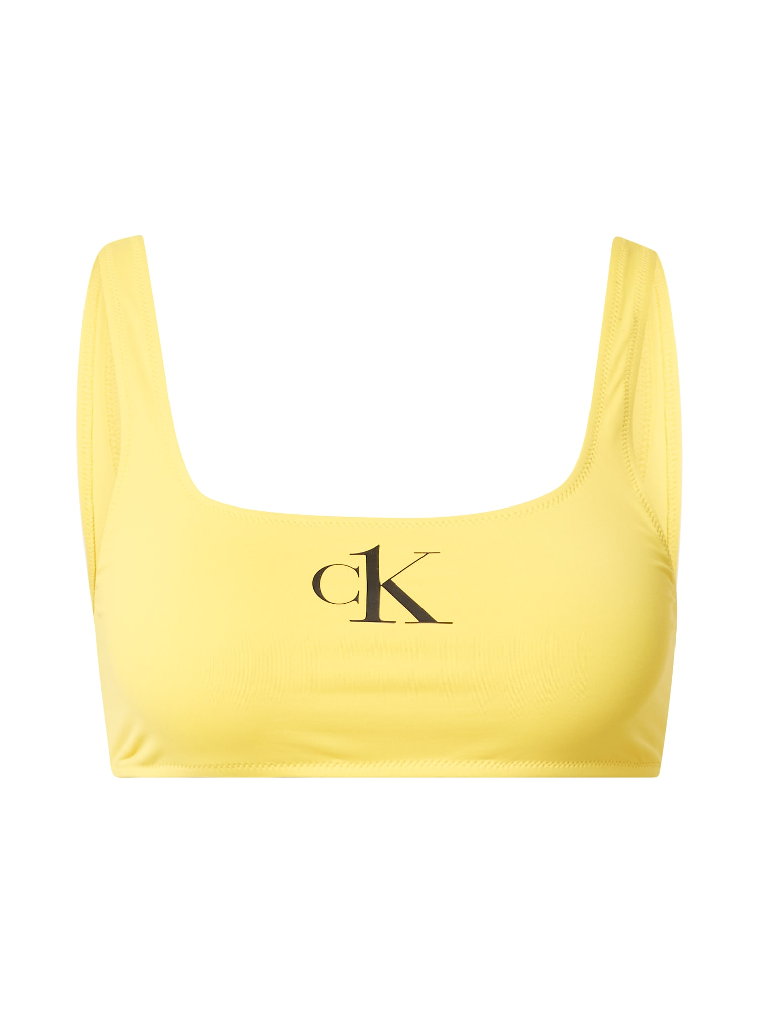 Calvin Klein Swimwear Bikinio viršutinė dalis geltona / juoda