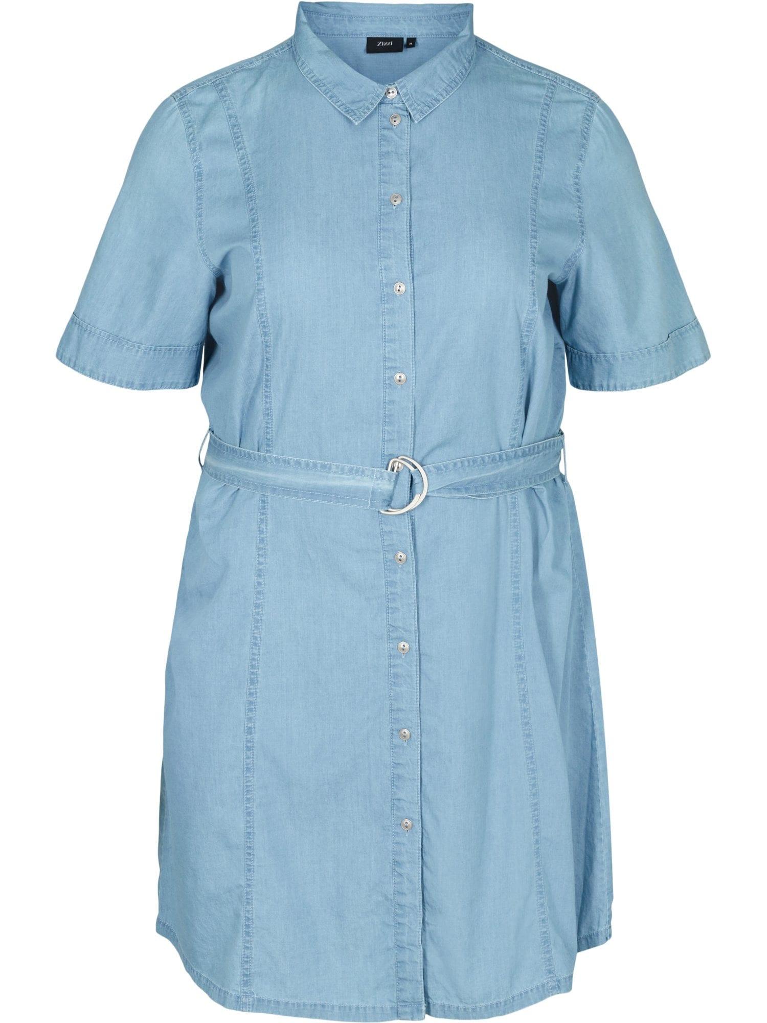 Zizzi Košilové šaty 'Jdina'  světlemodrá