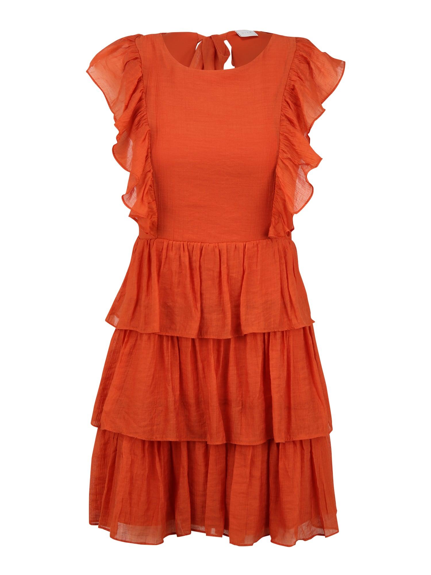 Vila Petite Kokteilinė suknelė rusva