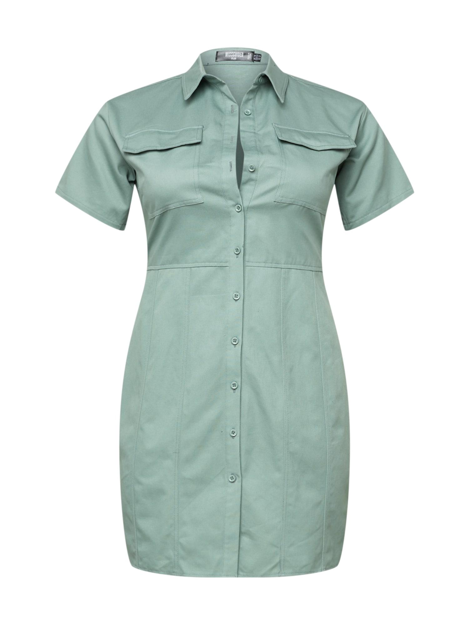 Missguided Plus Palaidinės tipo suknelė pastelinė žalia