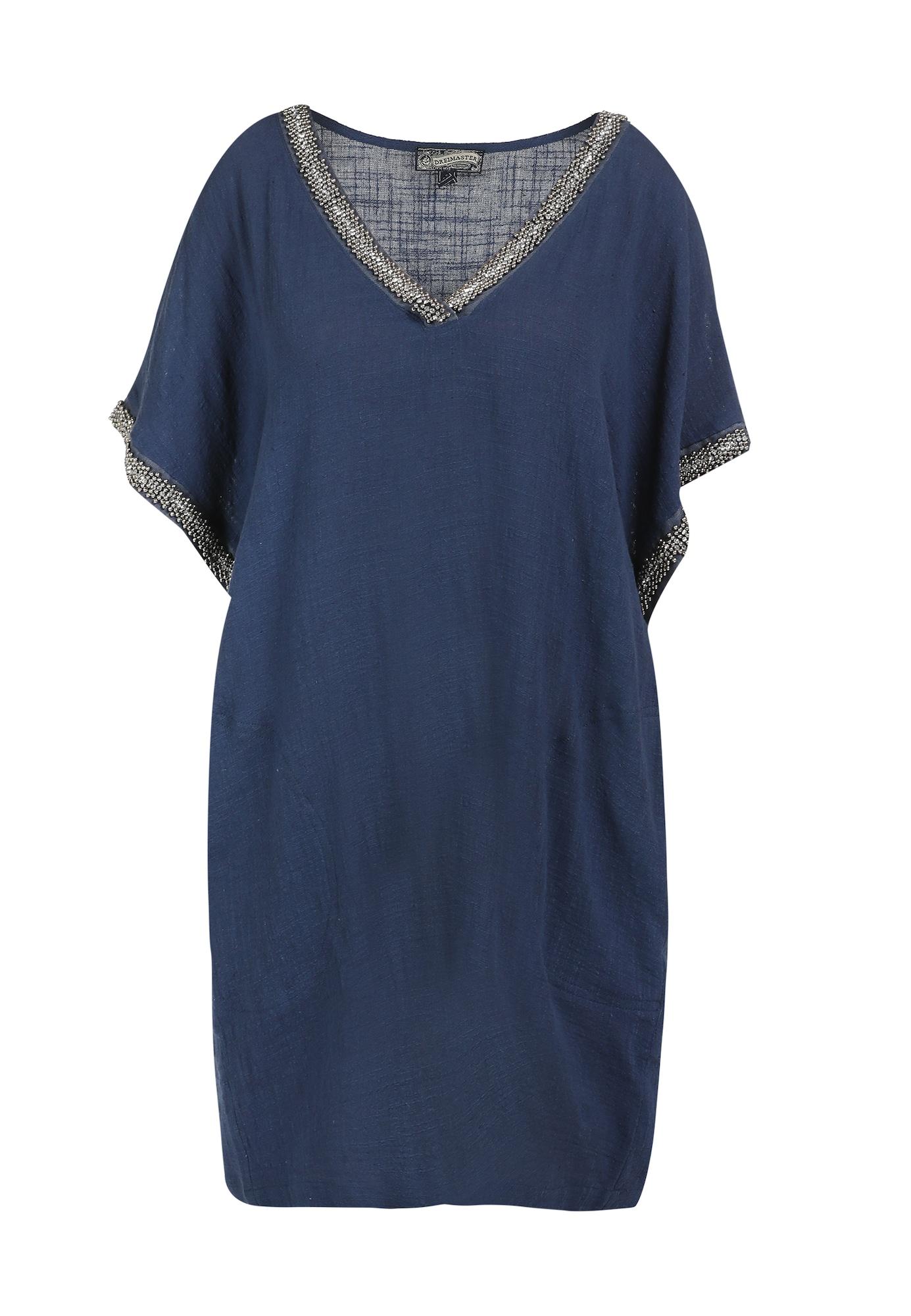 DreiMaster Vintage Suknelė violetinė-mėlyna / sidabrinė