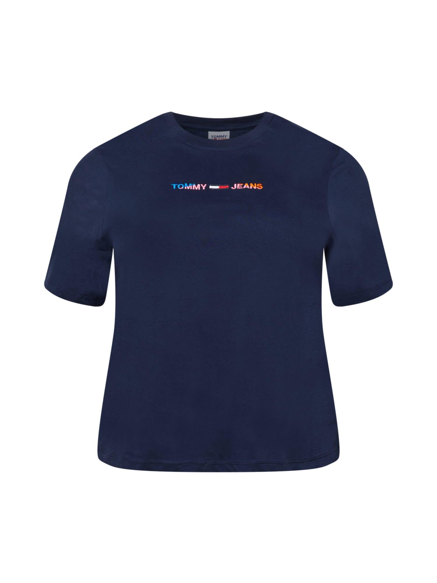 Tommy Jeans Curve Marškinėliai tamsiai mėlyna / mišrios spalvos