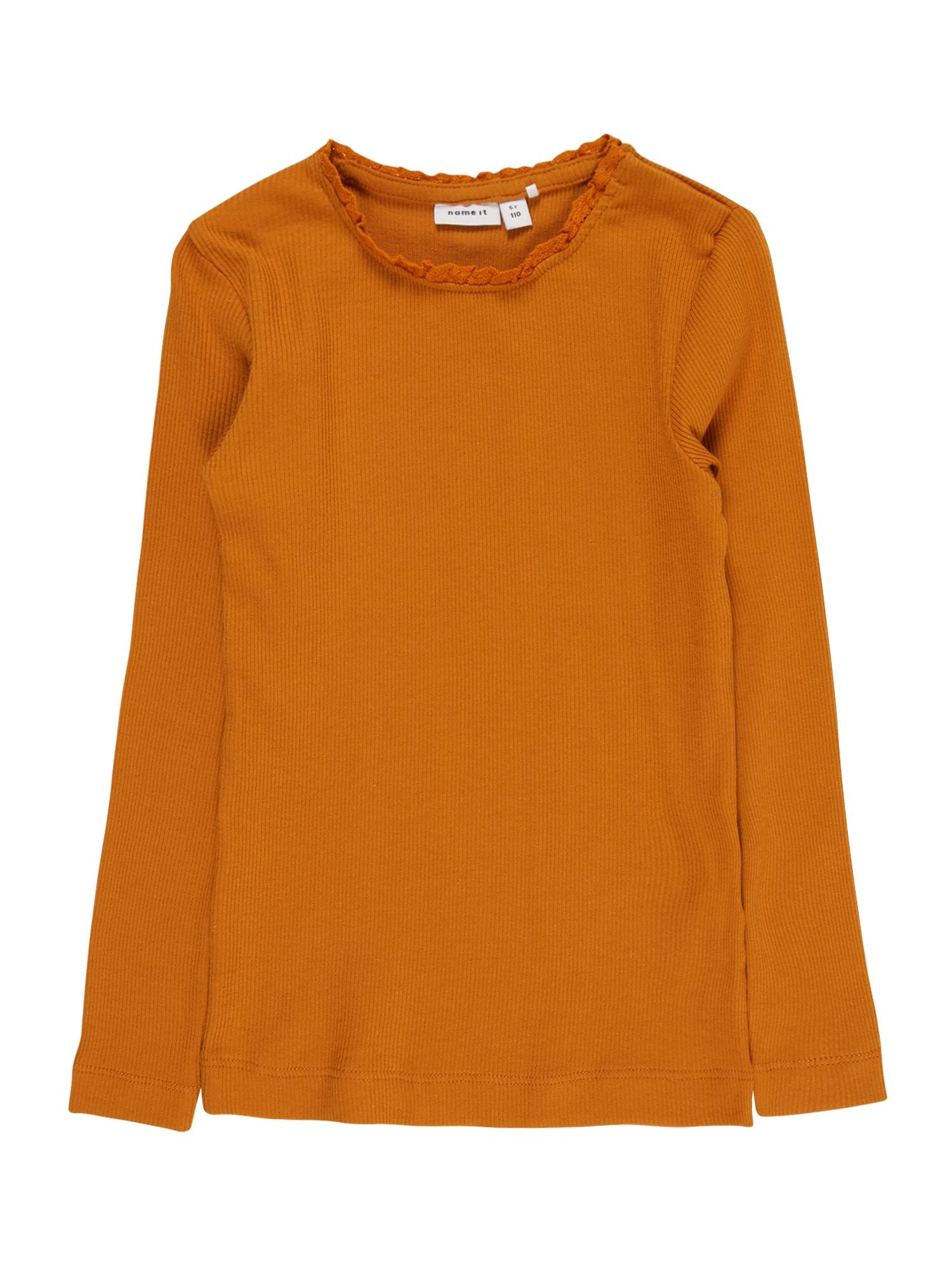 NAME IT Marškinėliai medaus spalva