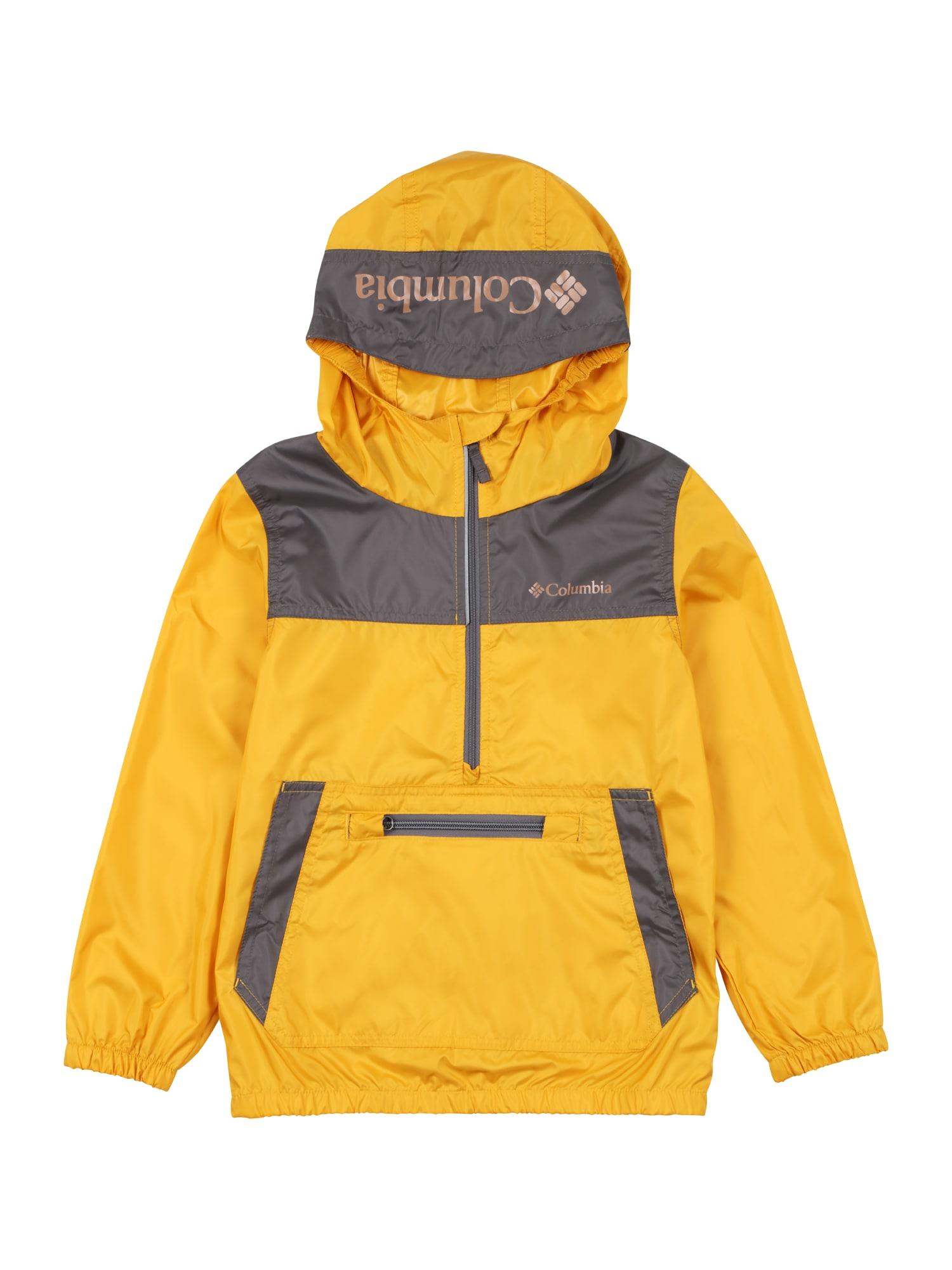 COLUMBIA Laisvalaikio striukė 'Bloomingport' tamsiai pilka / tamsiai geltona