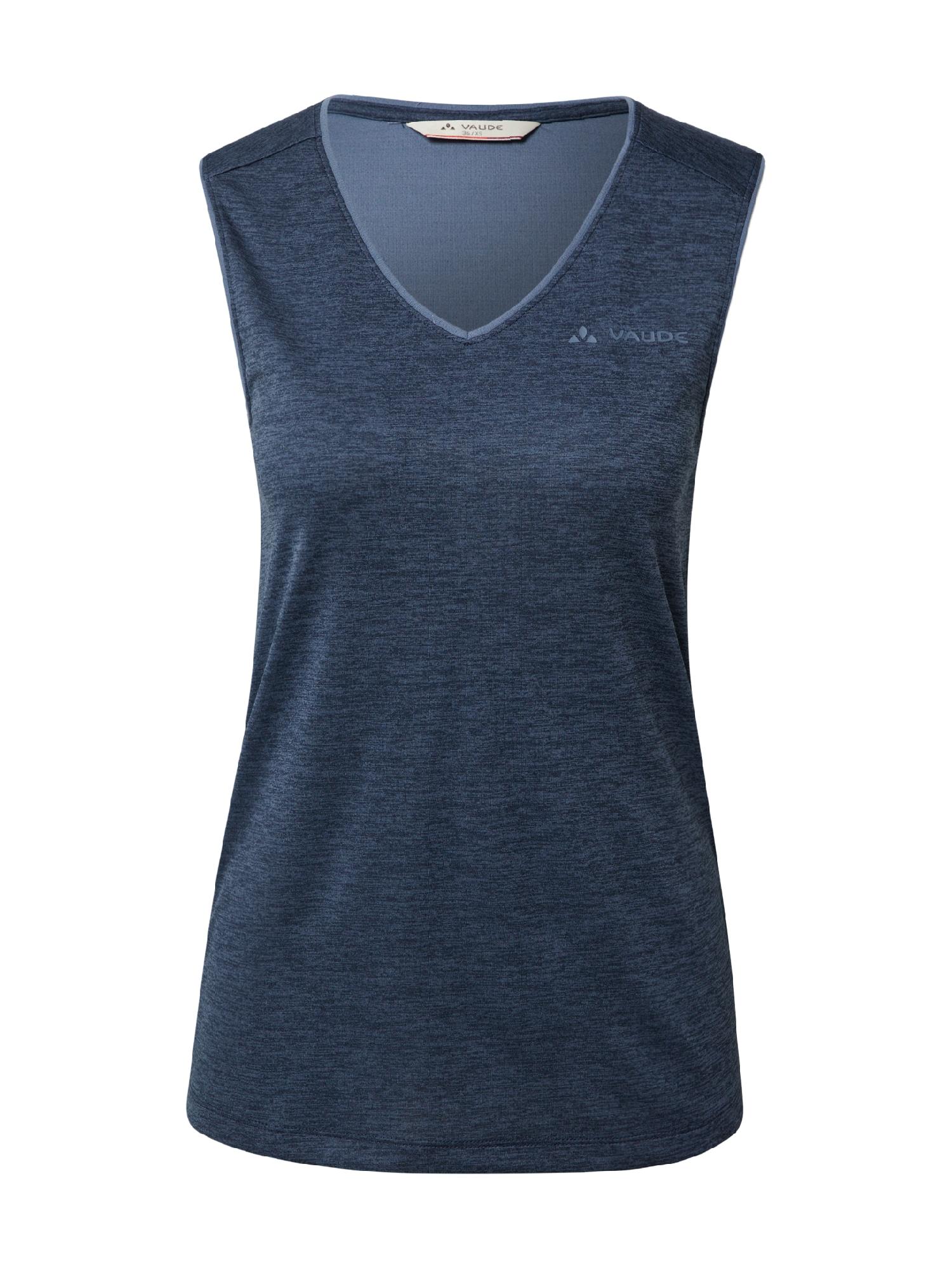 VAUDE Sportiniai marškinėliai be rankovių tamsiai mėlyna jūros spalva