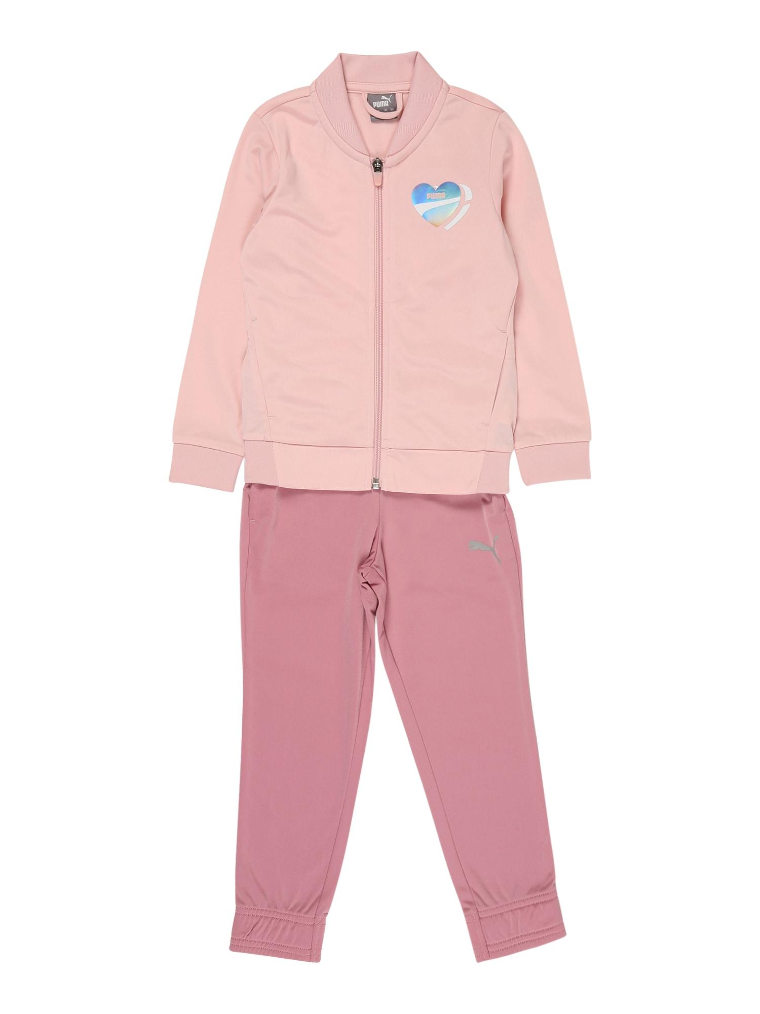 PUMA Treniruočių kostiumas 'Poly' rožių spalva / rožinė