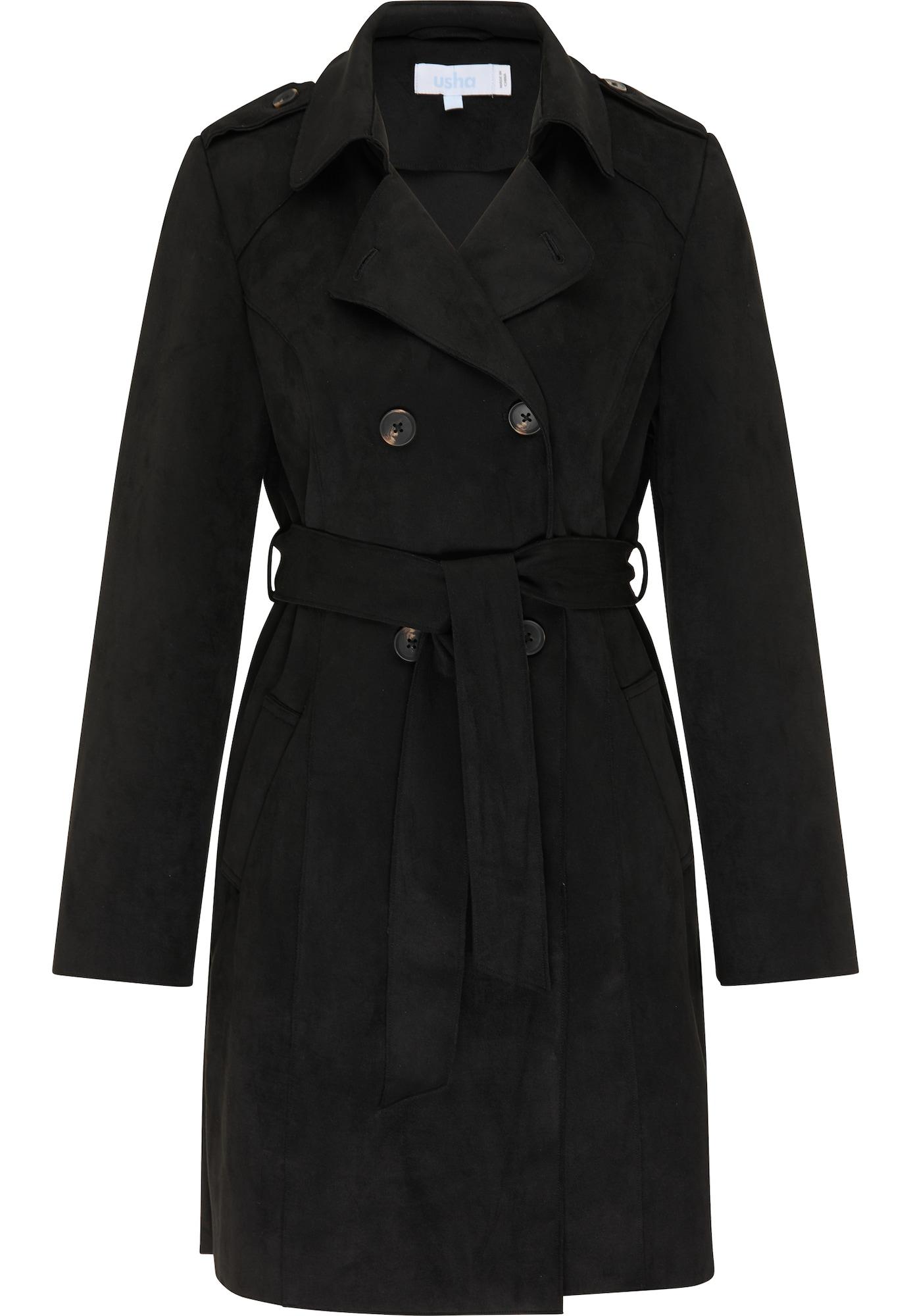 usha BLUE LABEL Demisezoninis paltas juoda