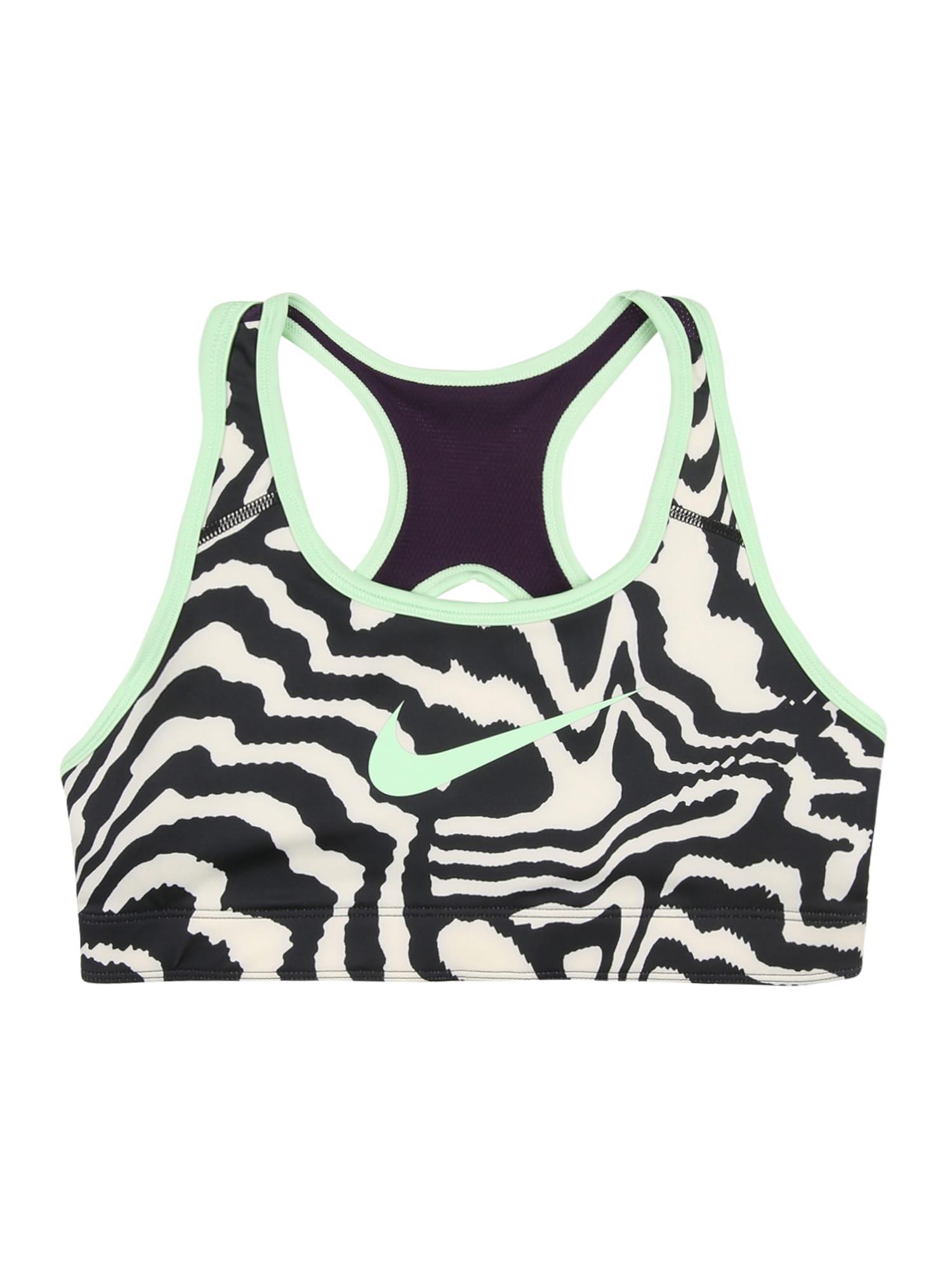 NIKE Sportinio stiliaus apatiniai drabužiai juoda / šviesiai žalia / balta