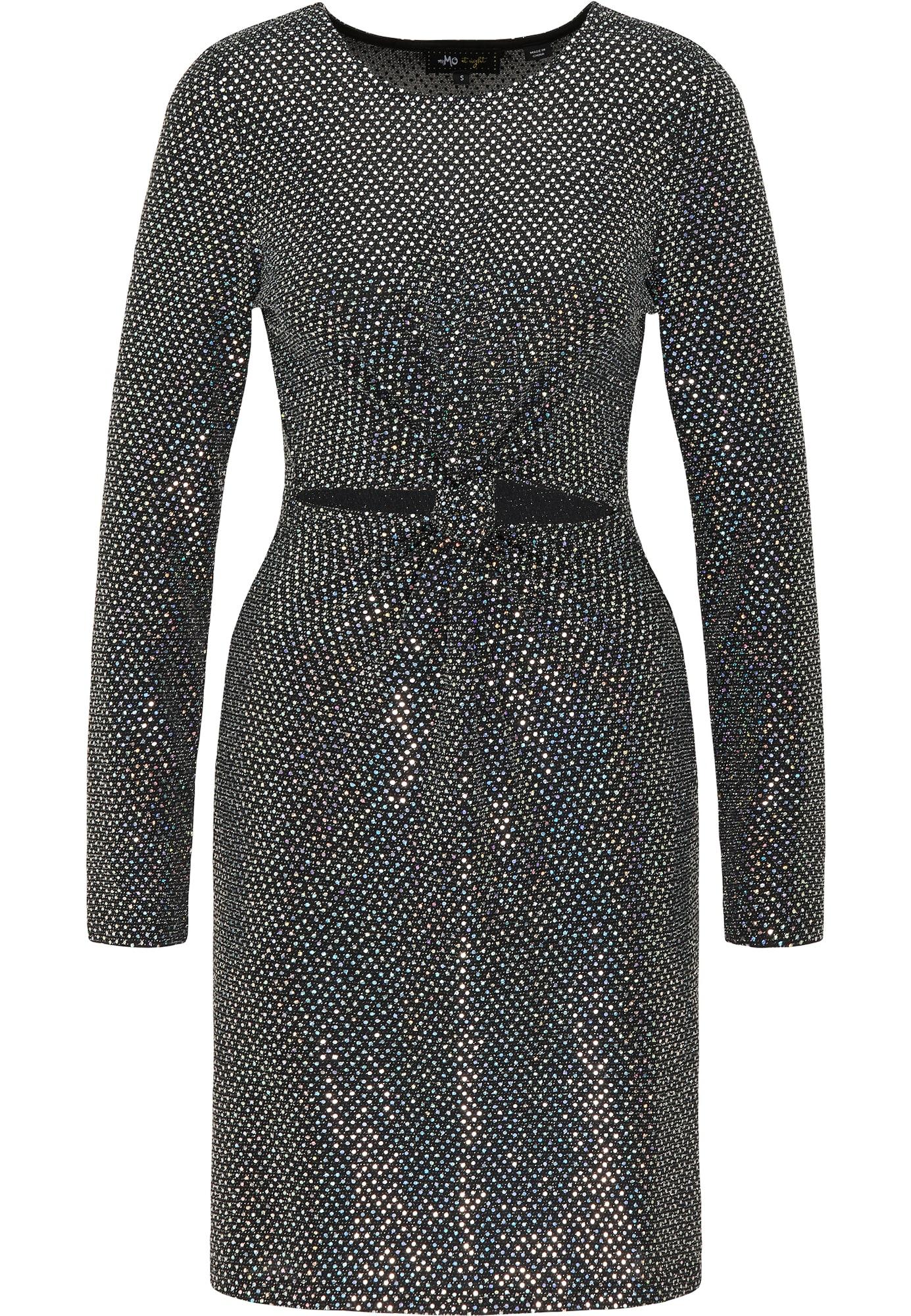 myMo at night Kokteilinė suknelė juoda / sidabrinė