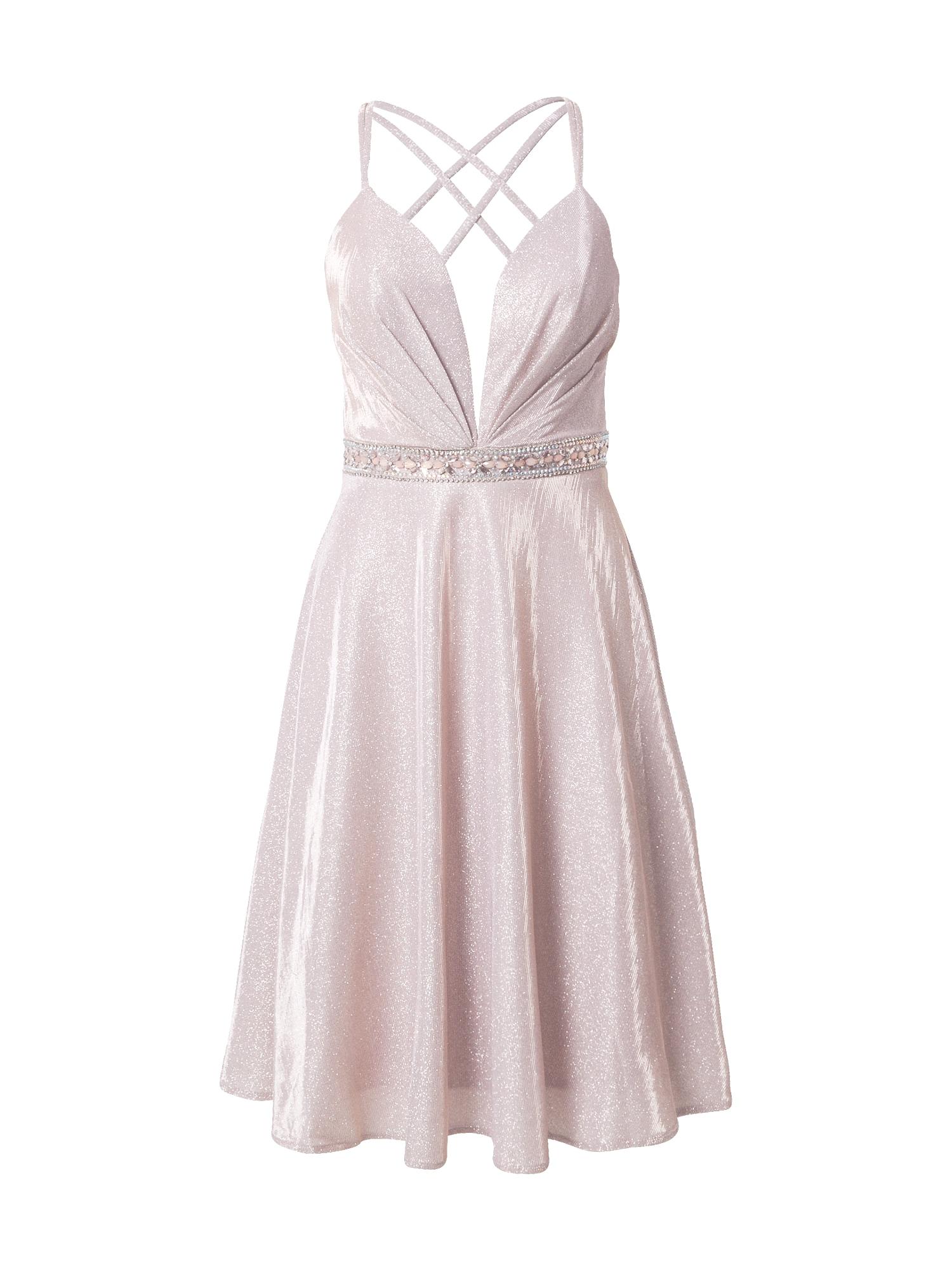 LUXUAR Kokteilinė suknelė pastelinė rožinė