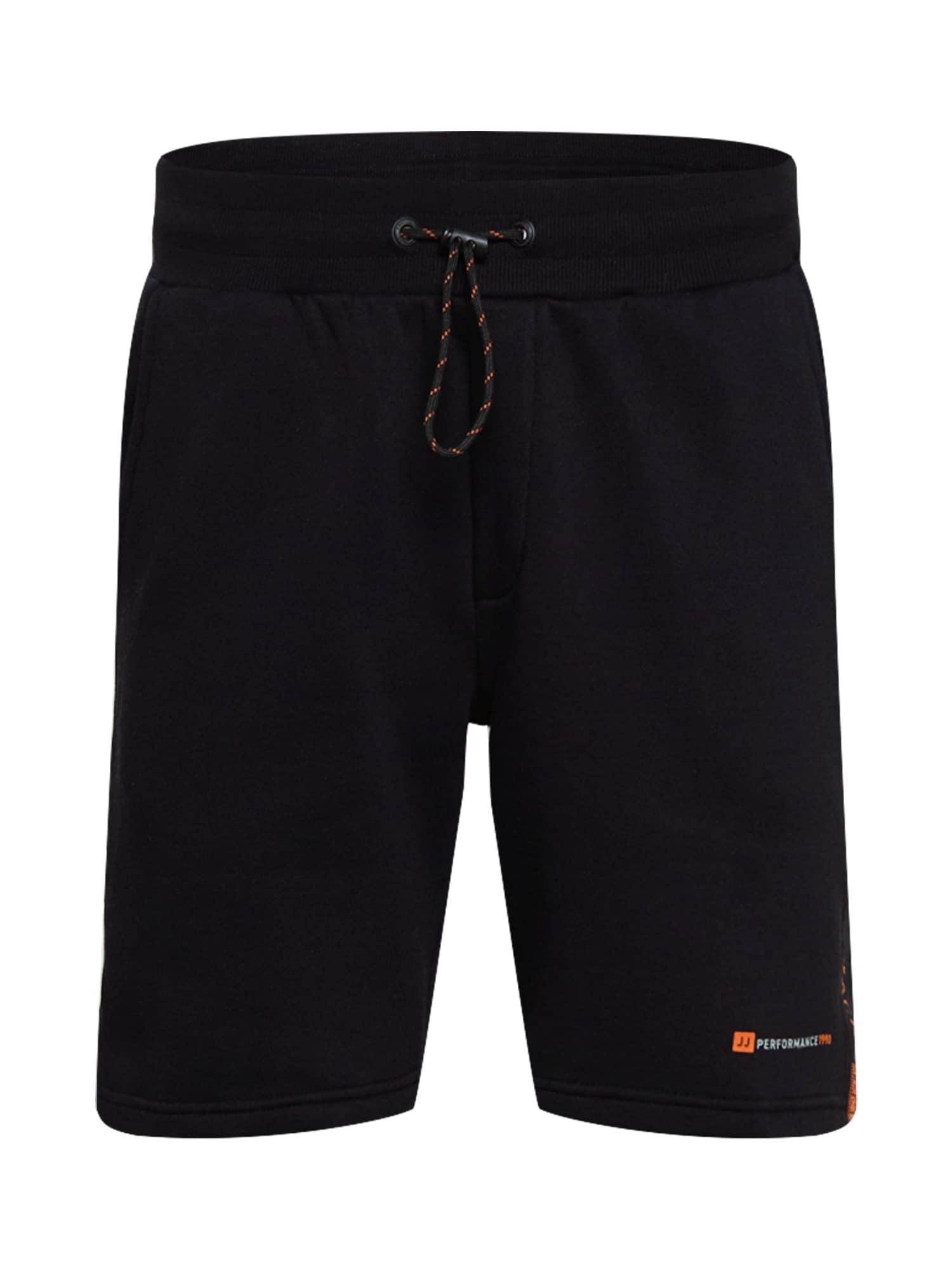 JACK & JONES Kelnės 'FINN' juoda / oranžinė / balta