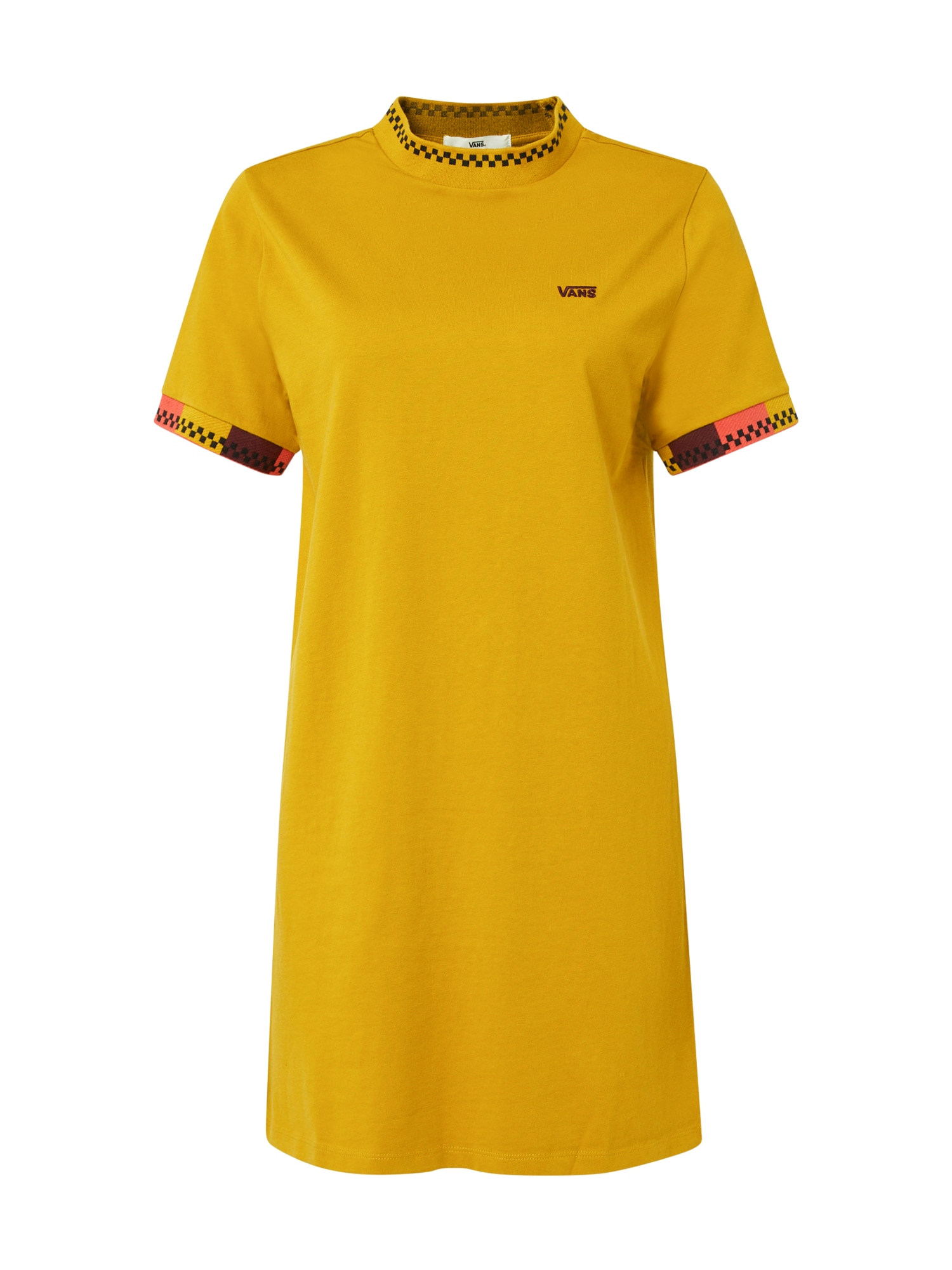 VANS Suknelė geltona / tamsiai raudona