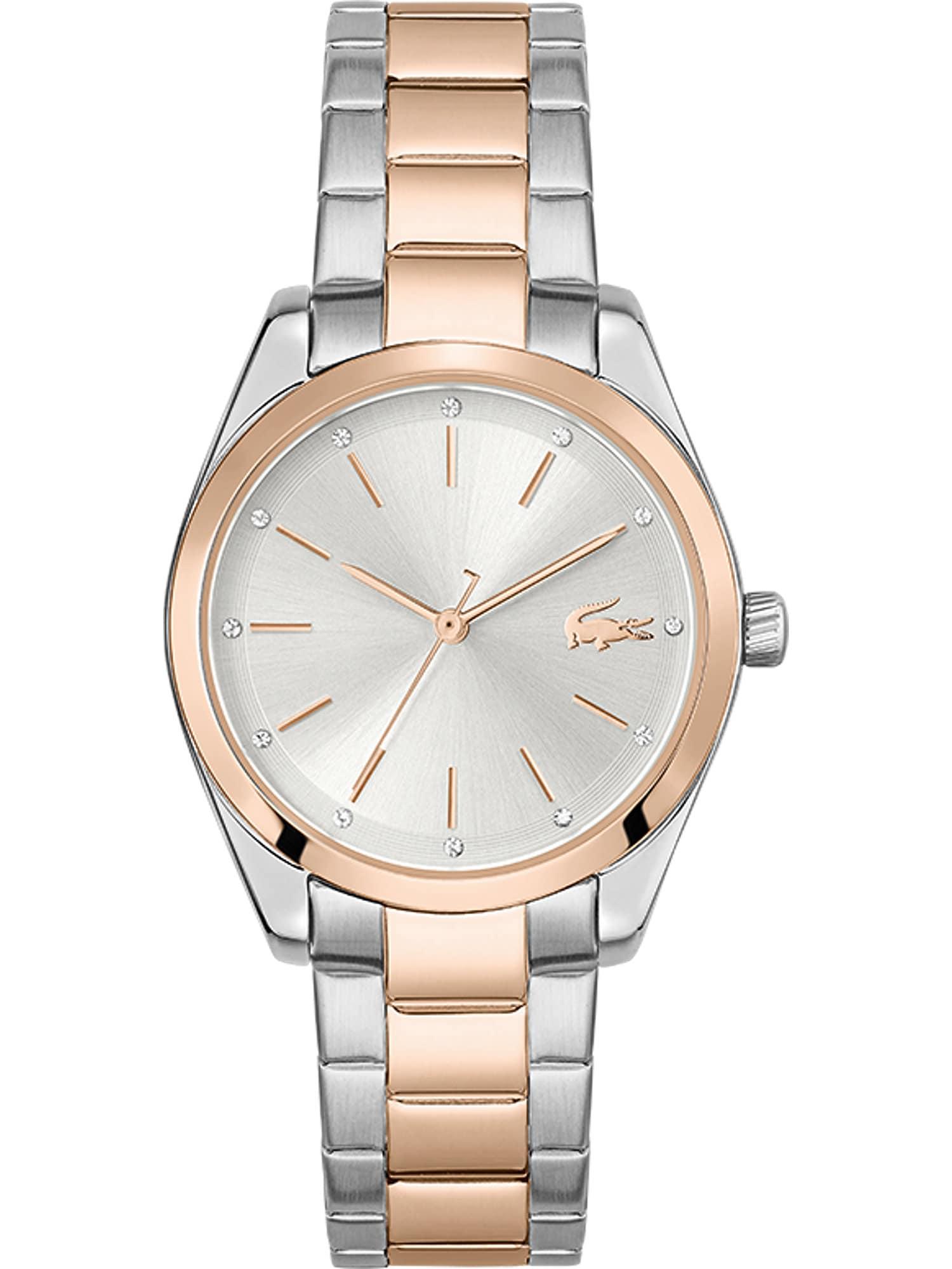 LACOSTE Analoginis (įprasto dizaino) laikrodis sidabrinė / auksas