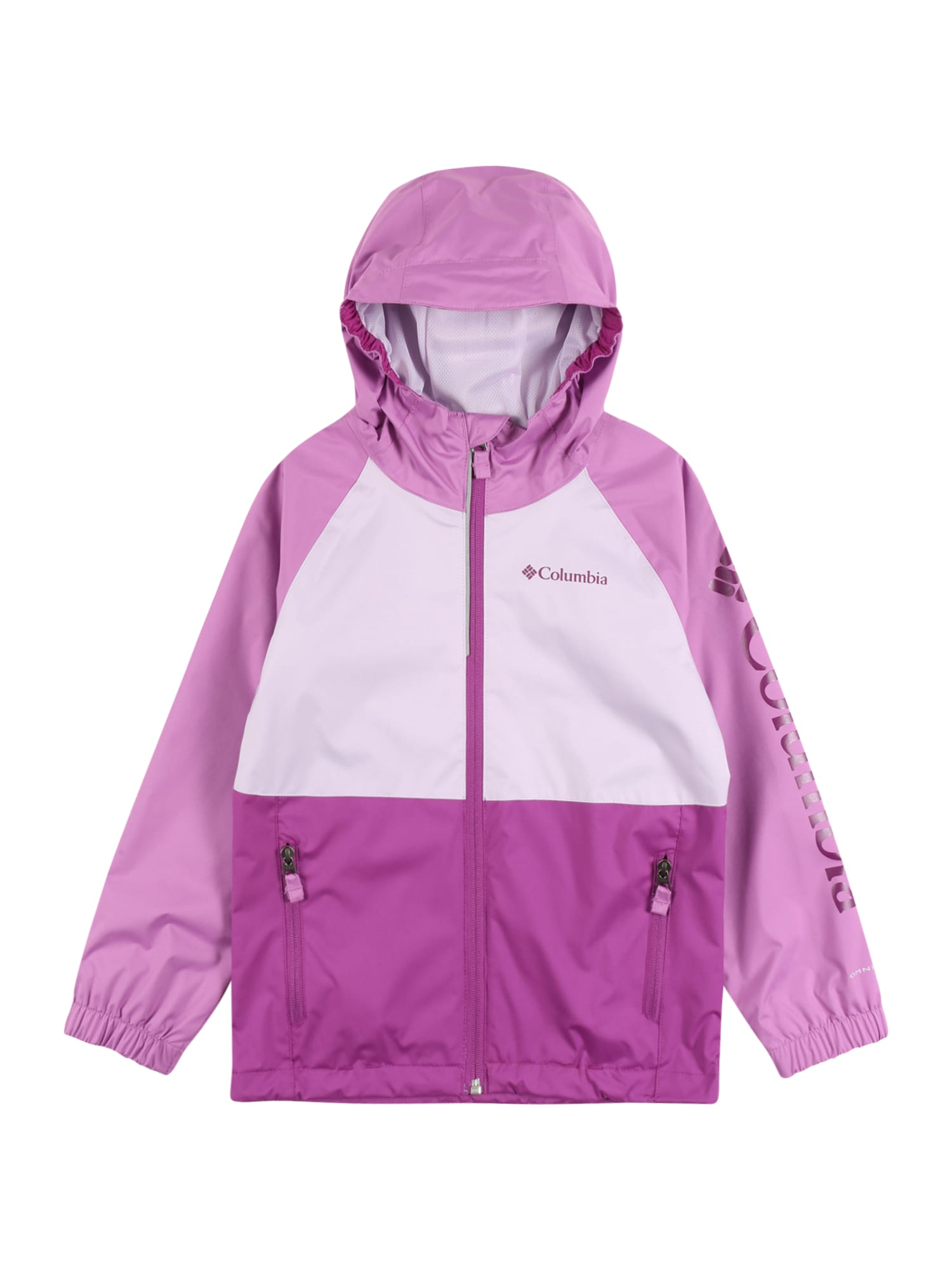 COLUMBIA Demisezoninė striukė 'Dalby' šviesiai violetinė / purpurinė / balta