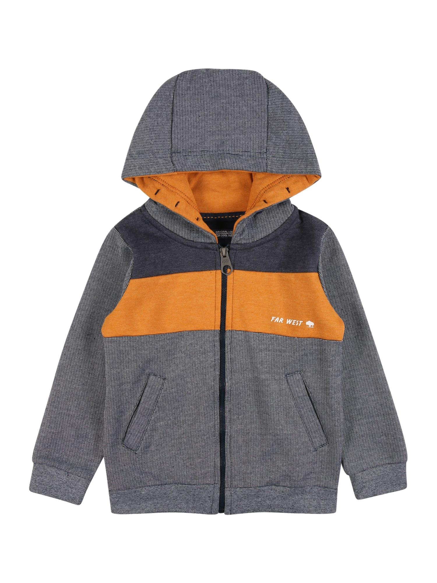 LEMON BERET Džemperis rusvai oranžinė / tamsiai mėlyna / pilka